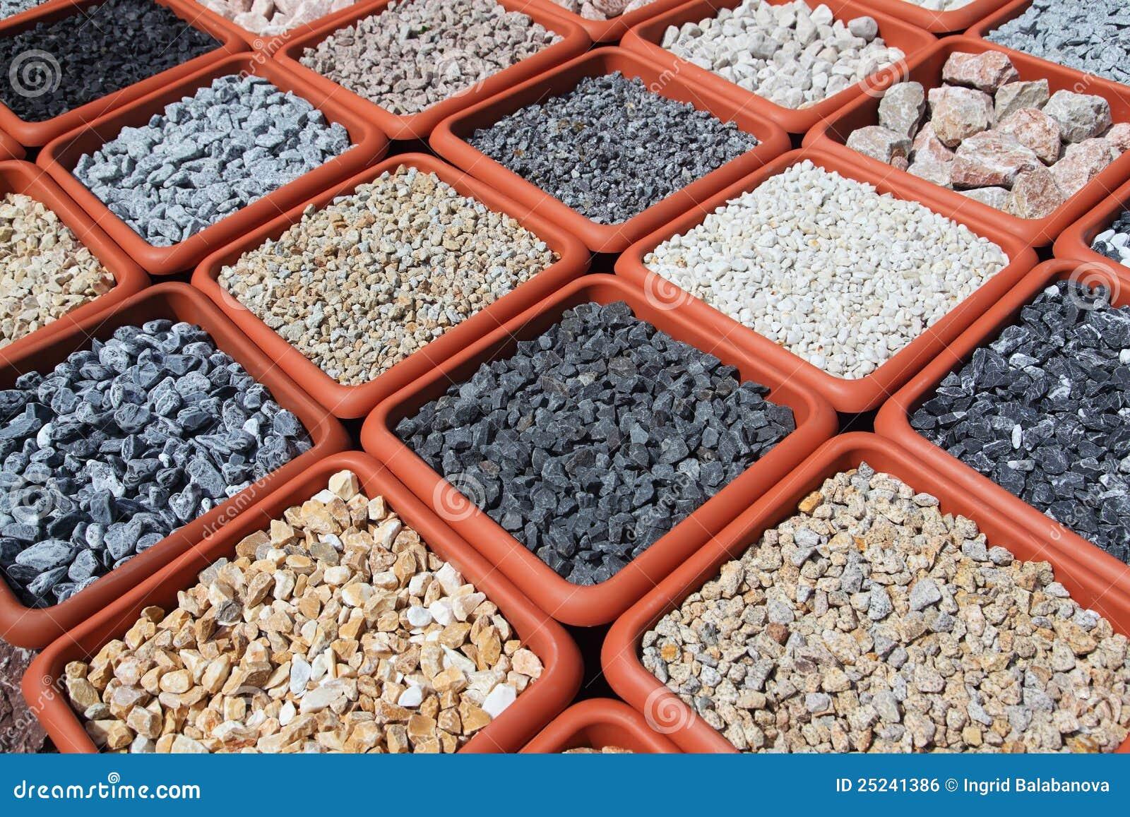 Variación de las rocas para el jardín