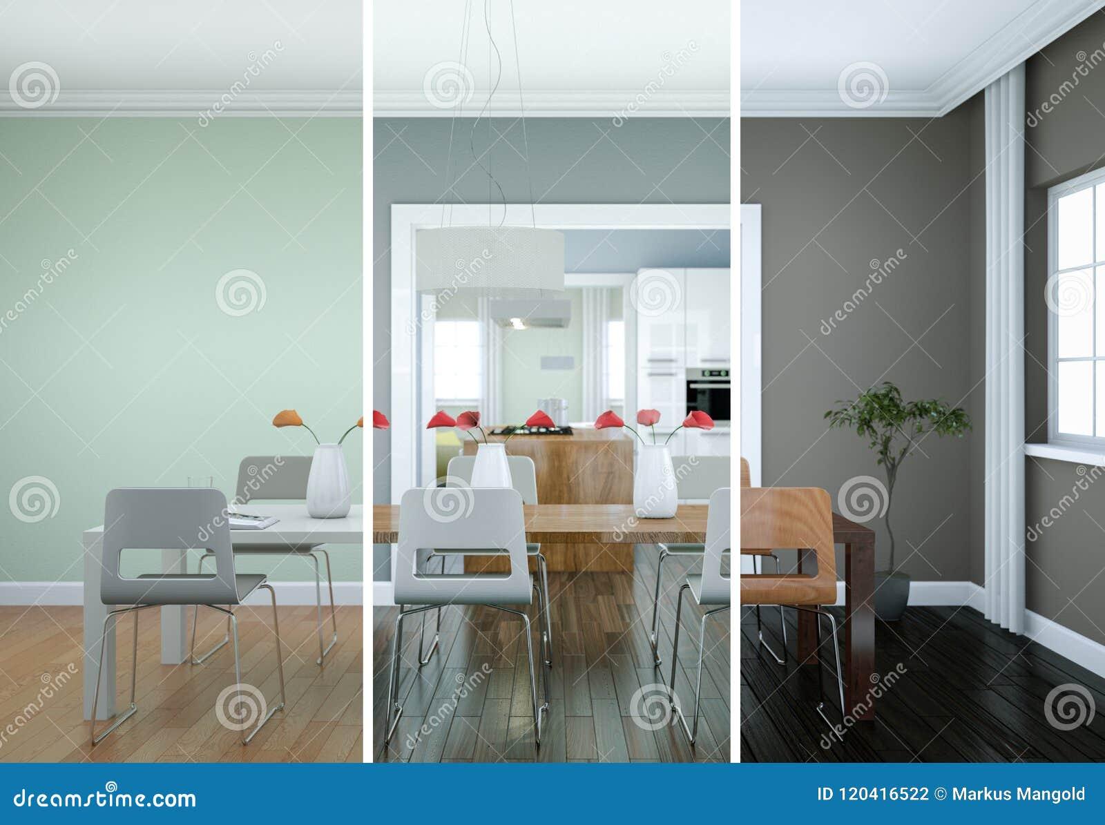 Variaciones Del Color De Splitted Del Diseño Interior Del ...
