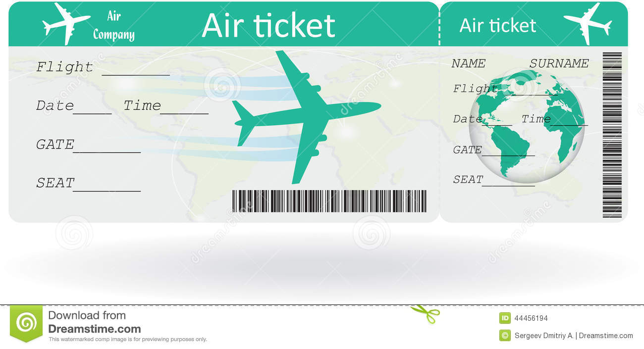 Variant of air ticket stock vector. Illustration of isolated - 44456194