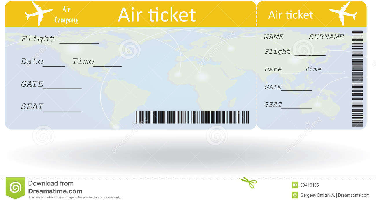 Variant of air ticket stock vector. Image of business ...