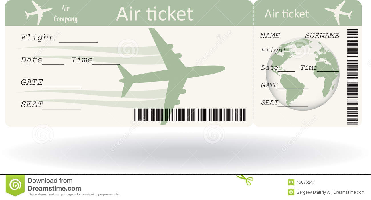 Variant Of Boarding Pass Stock Vector - Image: 45675247
