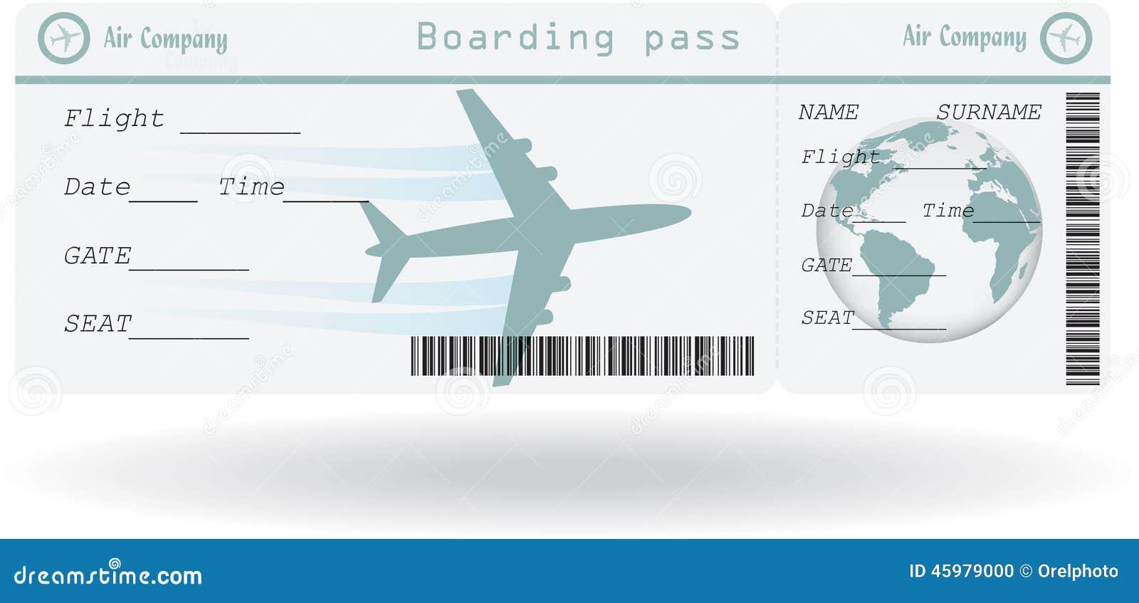 Variante De Billet D Avion Illustration De Vecteur Image