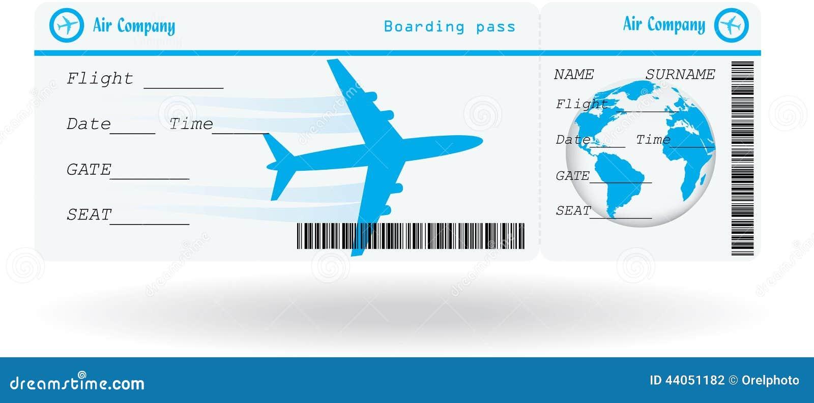 Variante Des Flugtickets Vektor Abbildung Bild 44051182