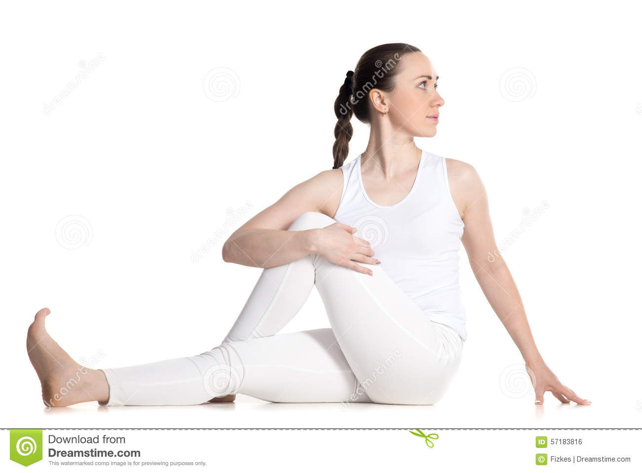 Ardha matsyendrasana pose stock photography for Half lord of the fishes
