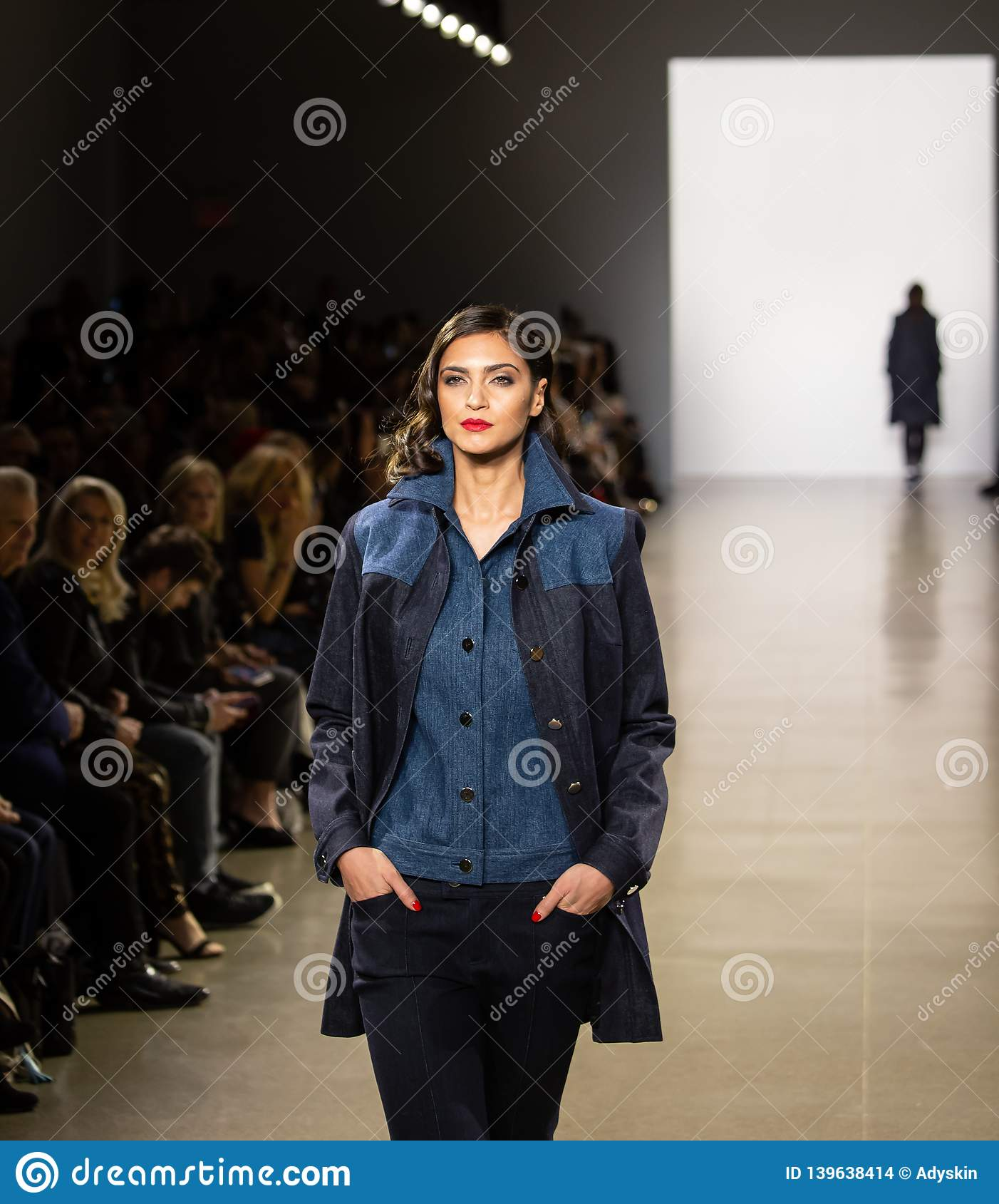 Zang Toi FW19 Runway show as part of there New York Fashion Week