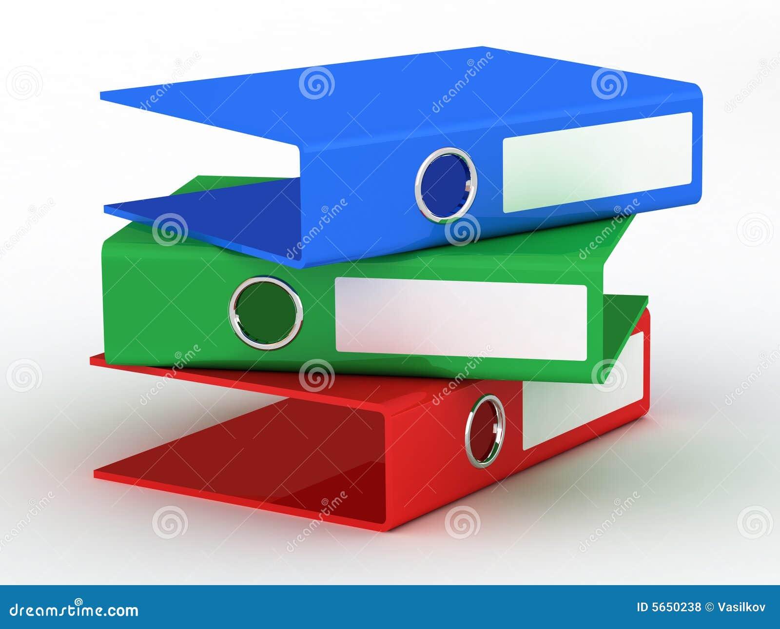 Varicoloured office files