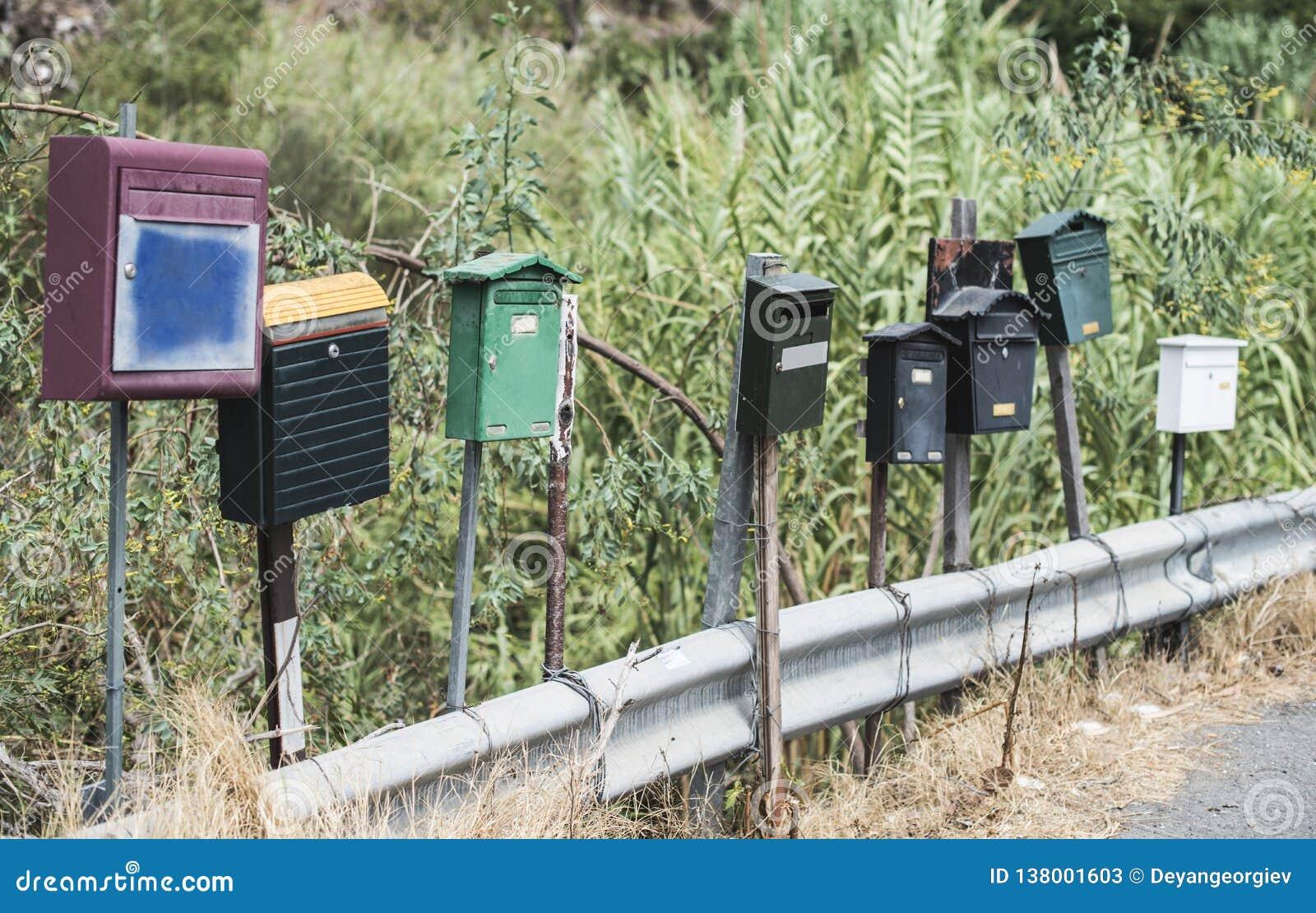 Varie cassette delle lettere