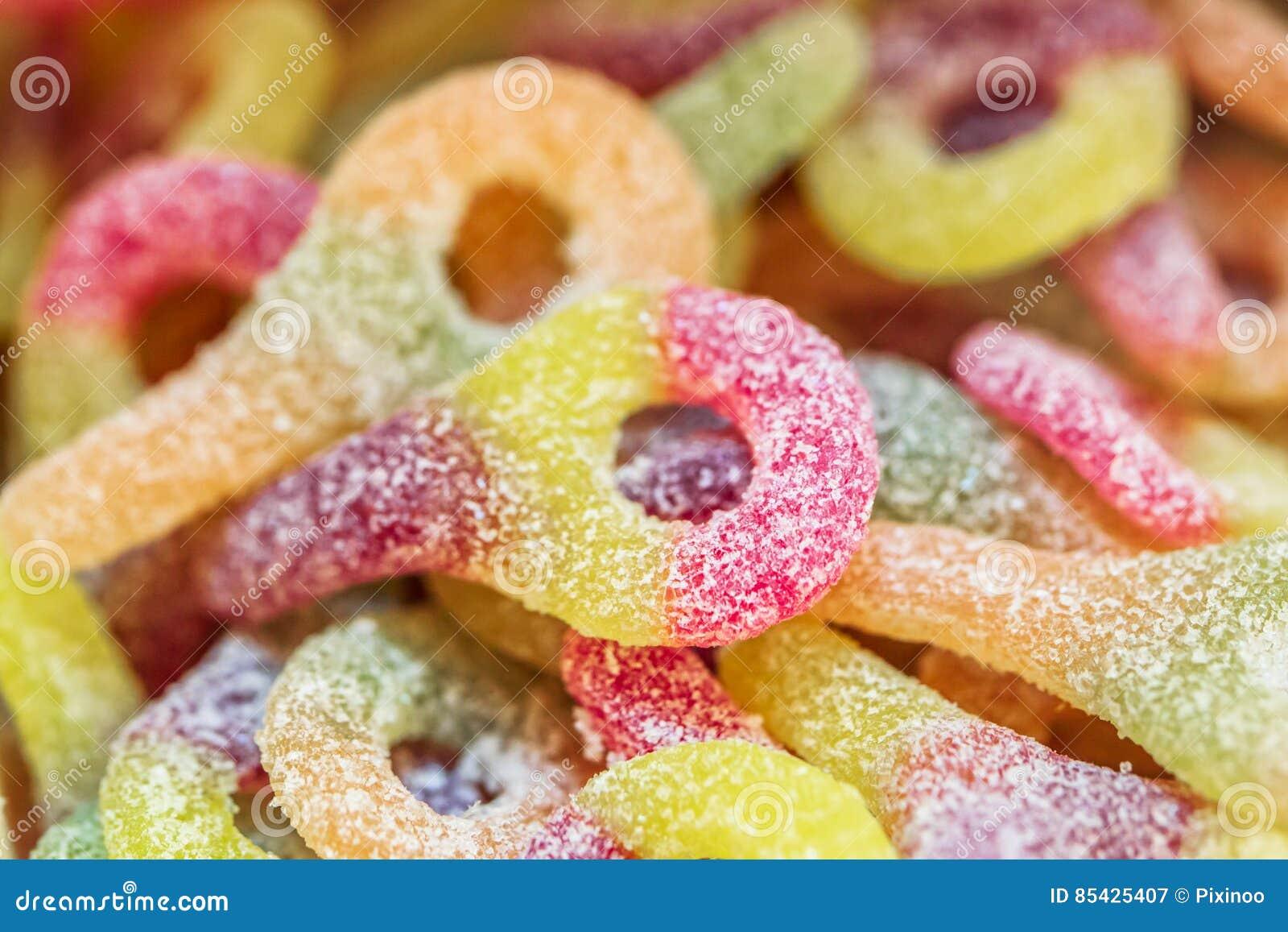Variedade de doces coloridos