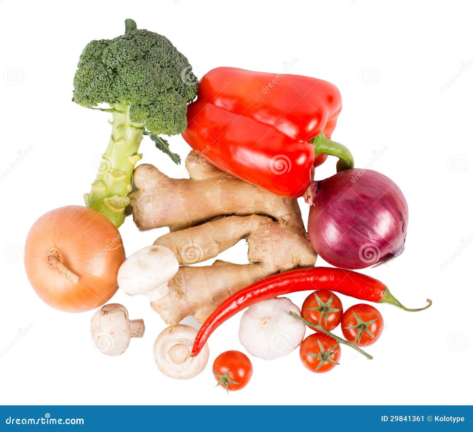 Legumes frescos e especiarias