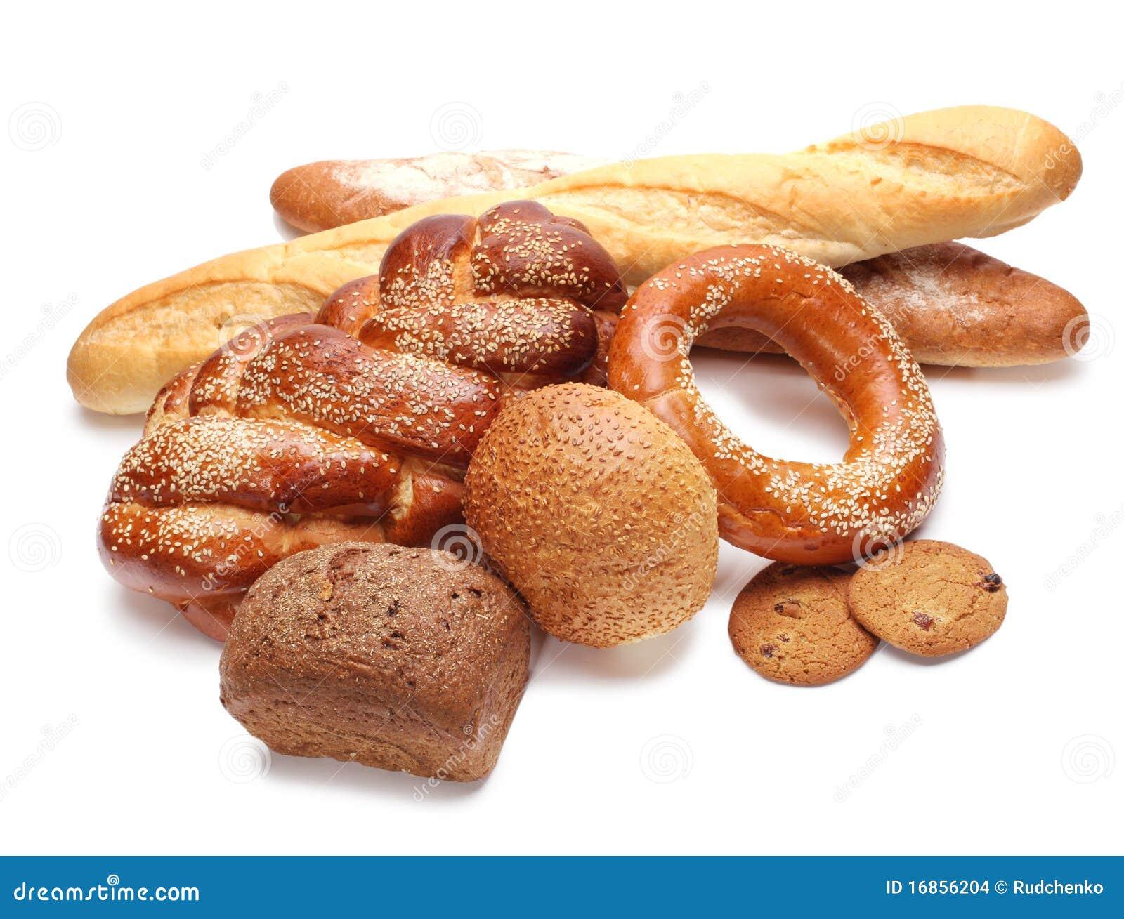 Variedade do pão cozido