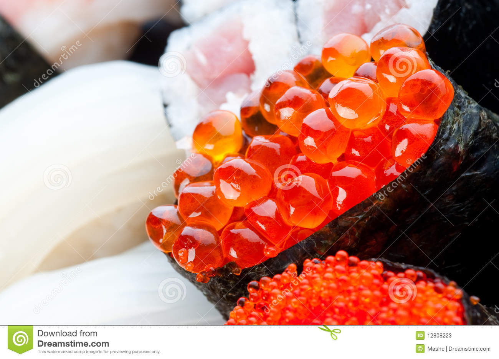 Variedade do sushi japonês
