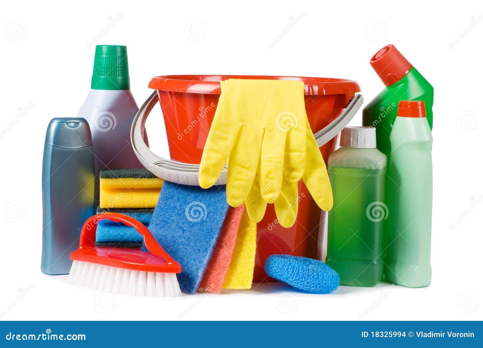 Variedade dos meios para a limpeza