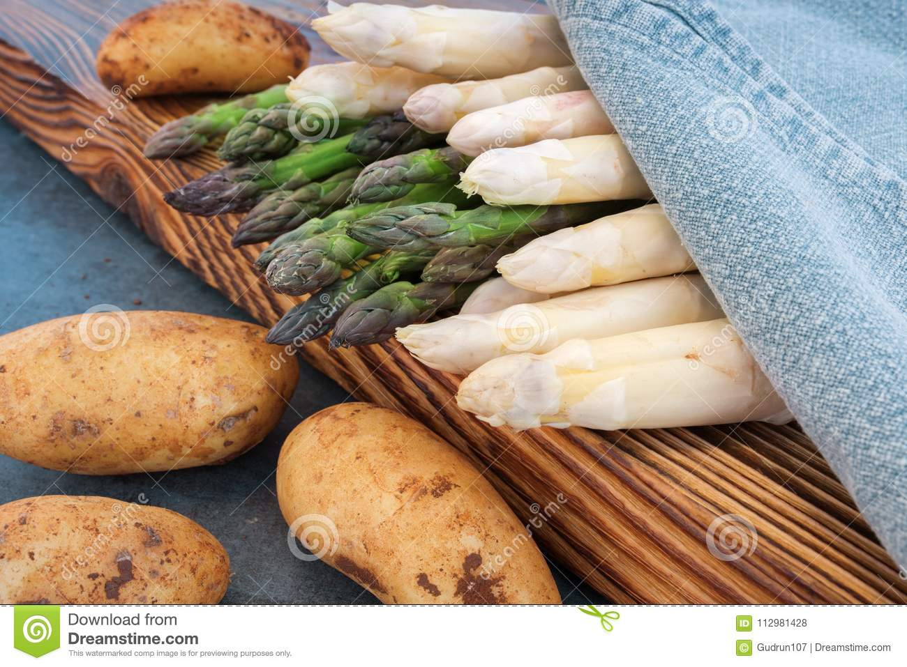 Varieties of asparagus with potatoes