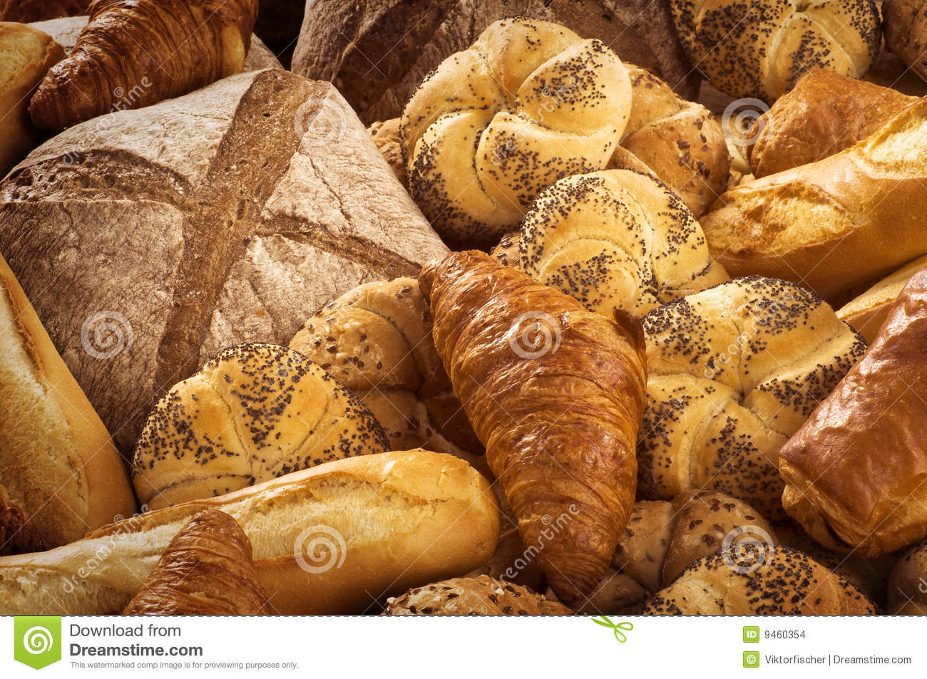 Variety Of Bread Stock Photo Image Of Foodstuff Buns