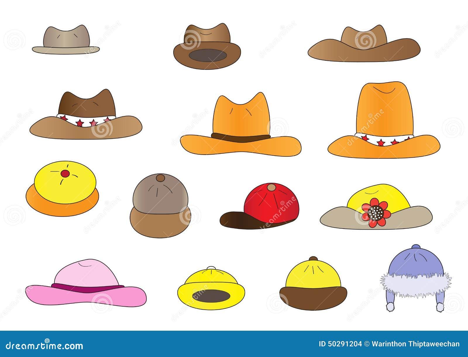 variety cartoon hats stock vector. illustration of cartoon - 50291204