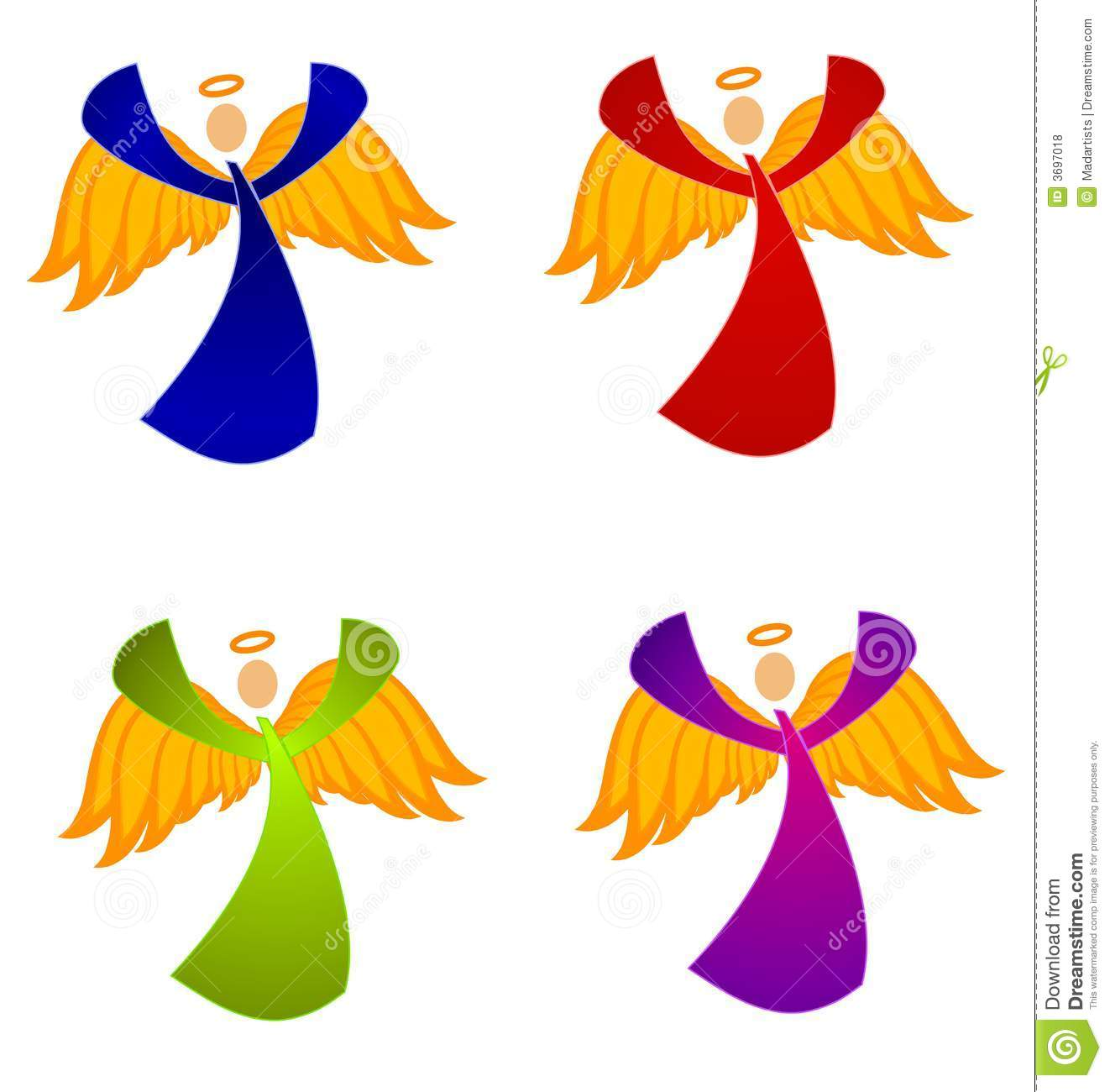 Variety Of Christmas Angels Clip Art Royalty Free Stock Photos ...