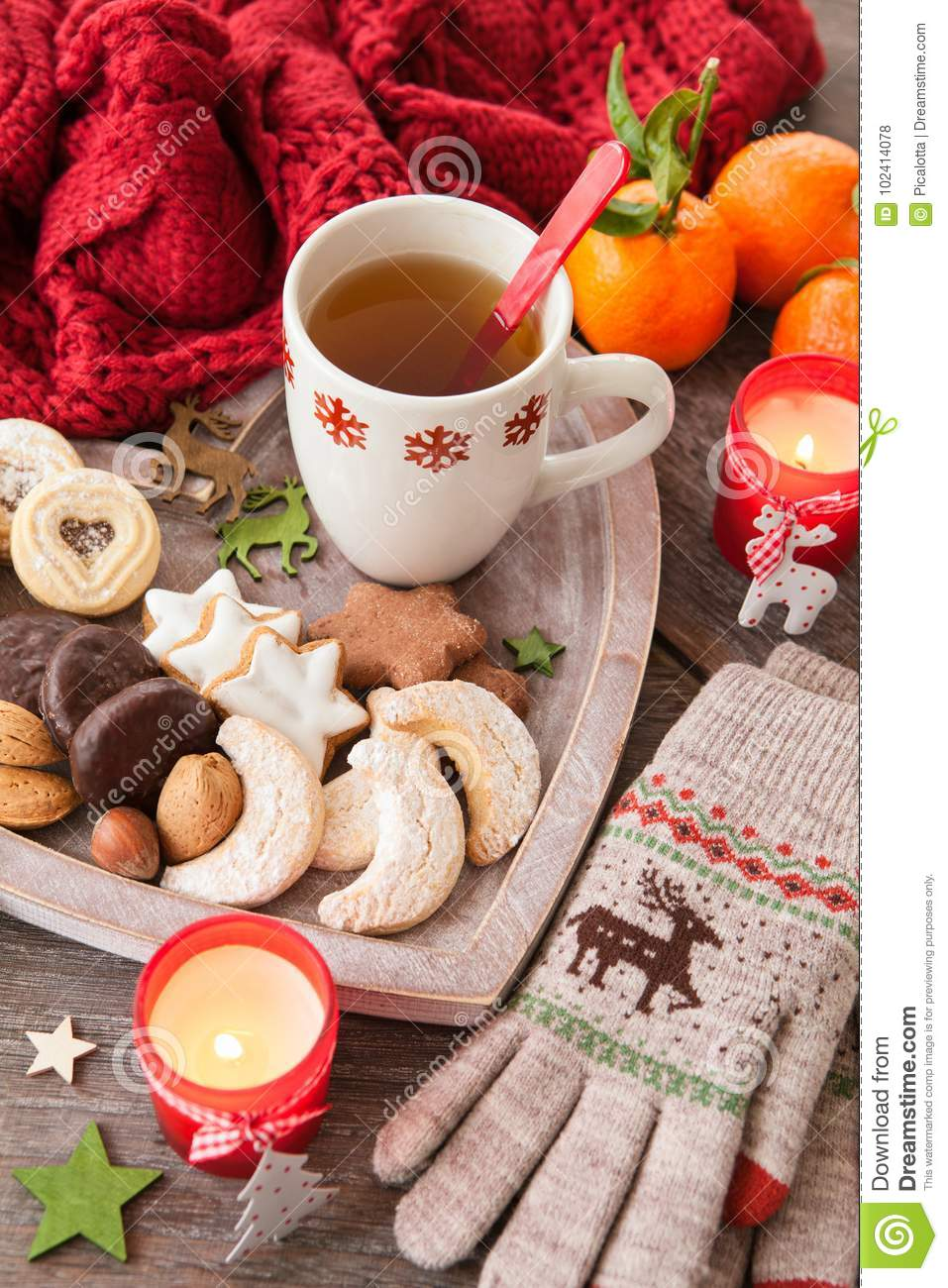 Variety Of Christmas Cookies Stock Photo Image Of Cheerful Sweets