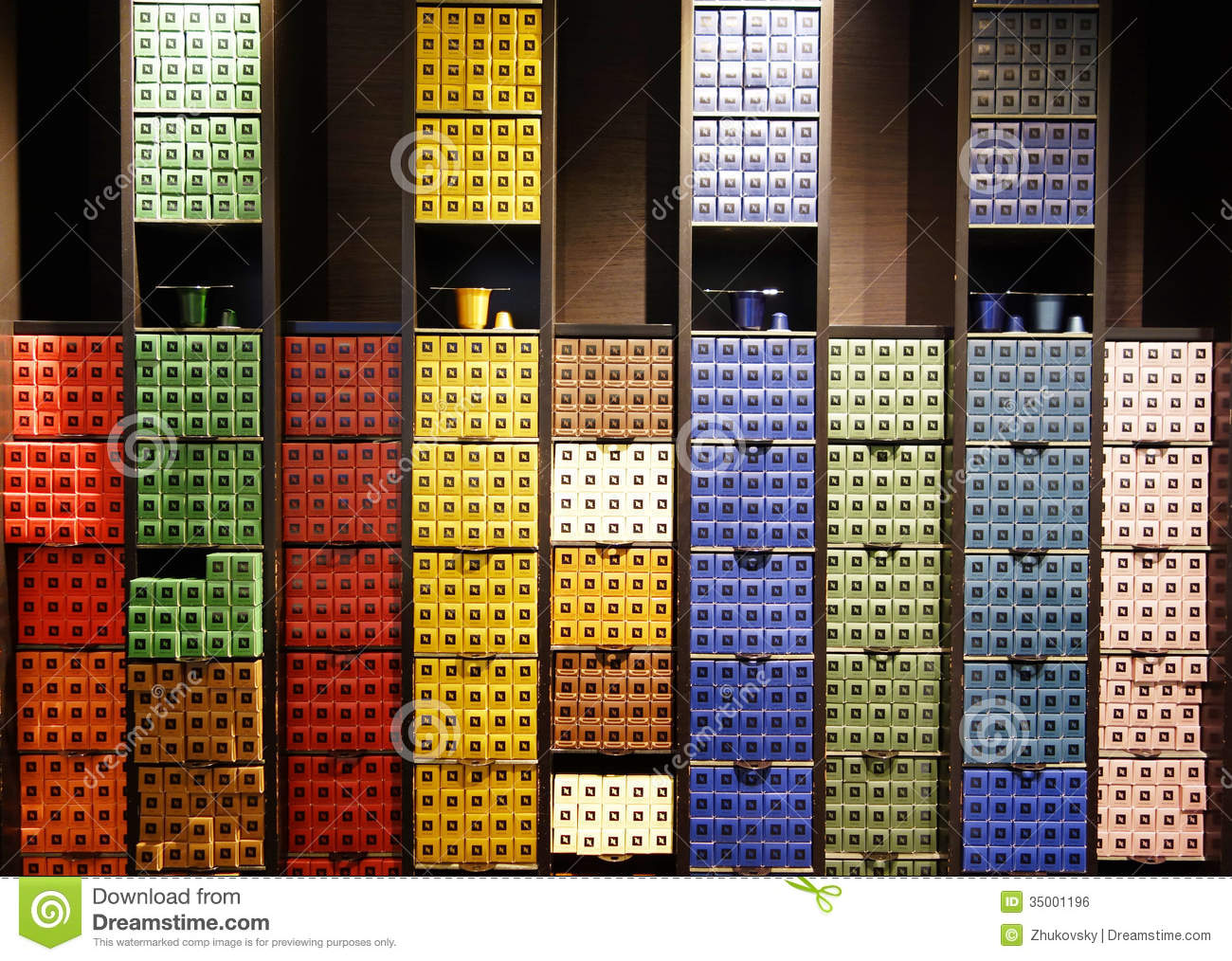 Variety of coffee capsules in nespresso store in paris editorial photo image of italian color - Recuperation capsules nespresso france ...