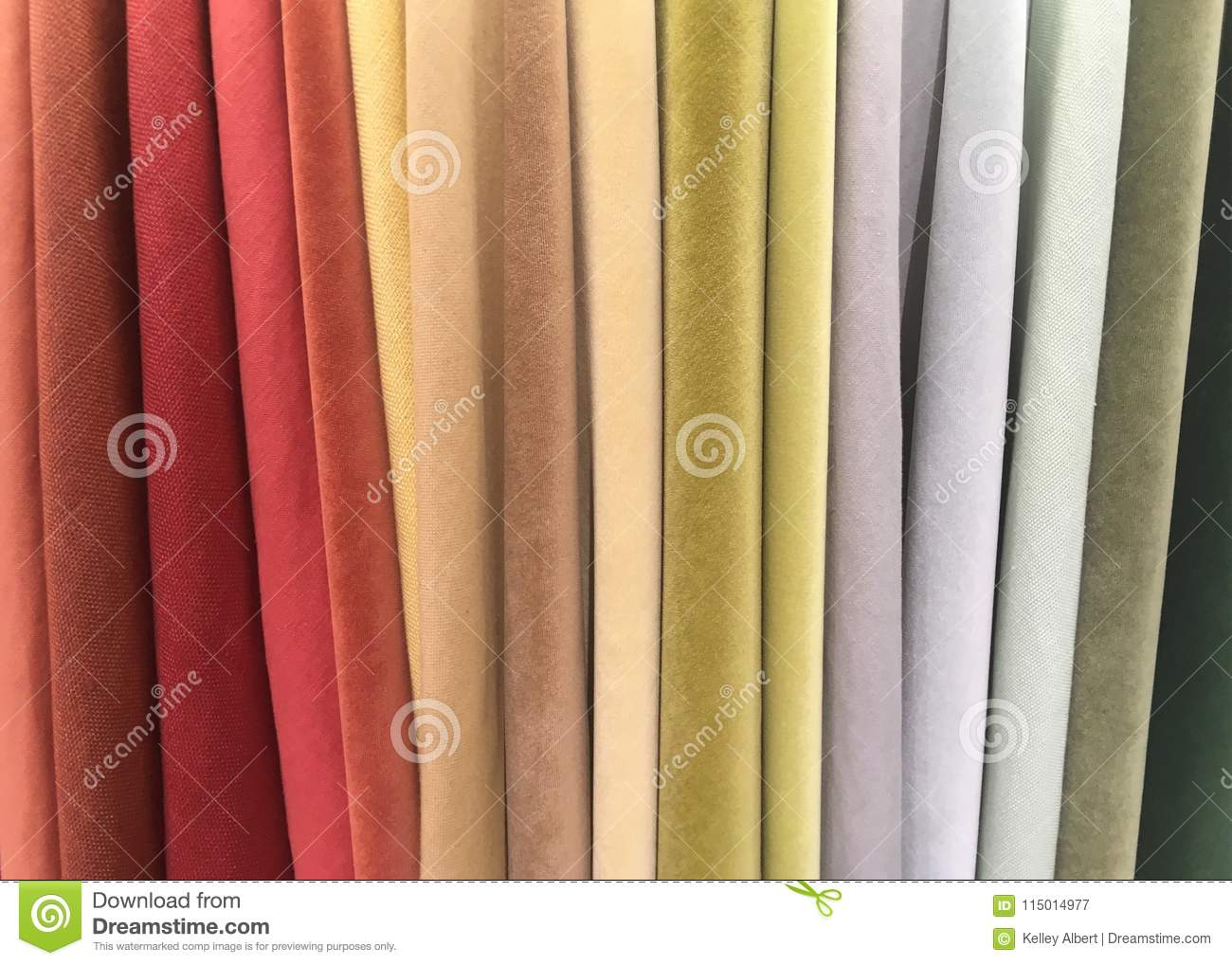 A Variety of Colorful Suede Fabrics