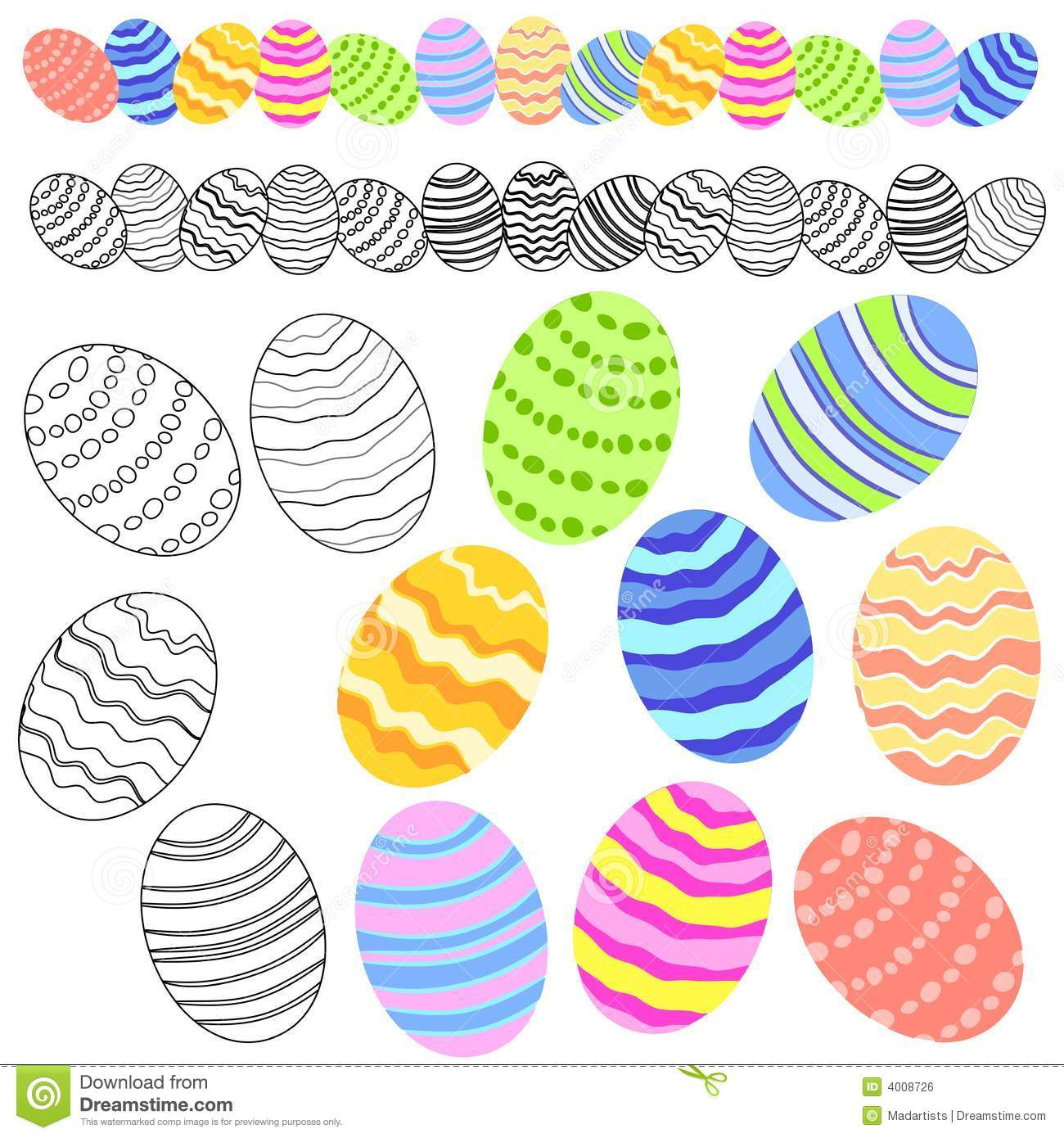 variety of easter eggs clip art royalty free stock image image