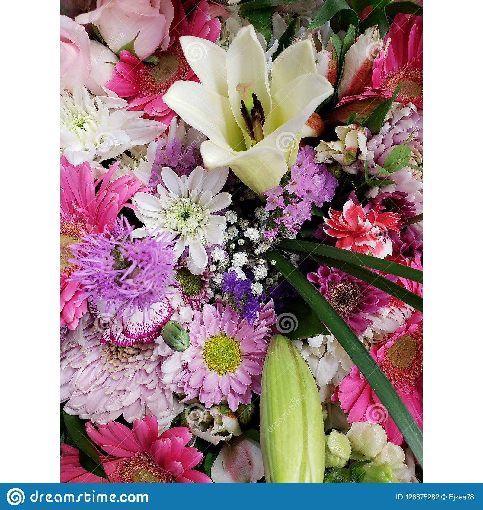 Variety of flower in a floral bouquet background and texture stock download variety of flower in a floral bouquet background and texture stock photo image izmirmasajfo