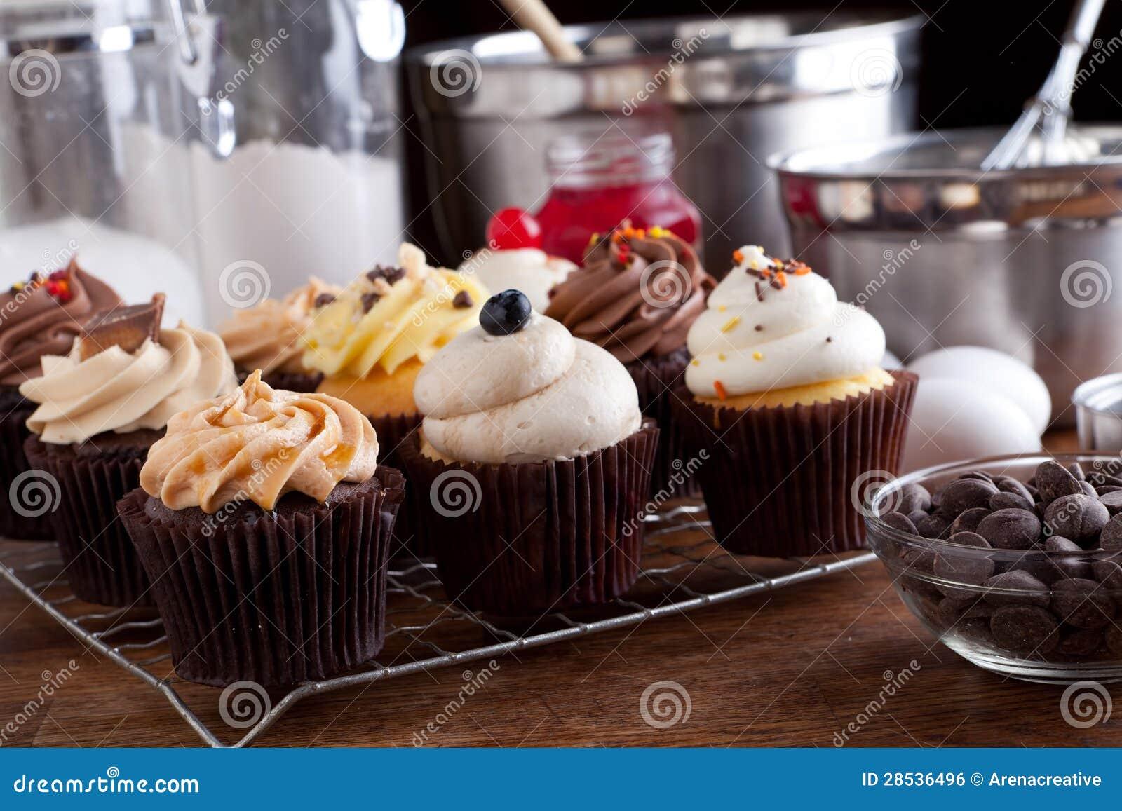 Variety Of Gourmet Cupcakes Stock Photo Image 28536496