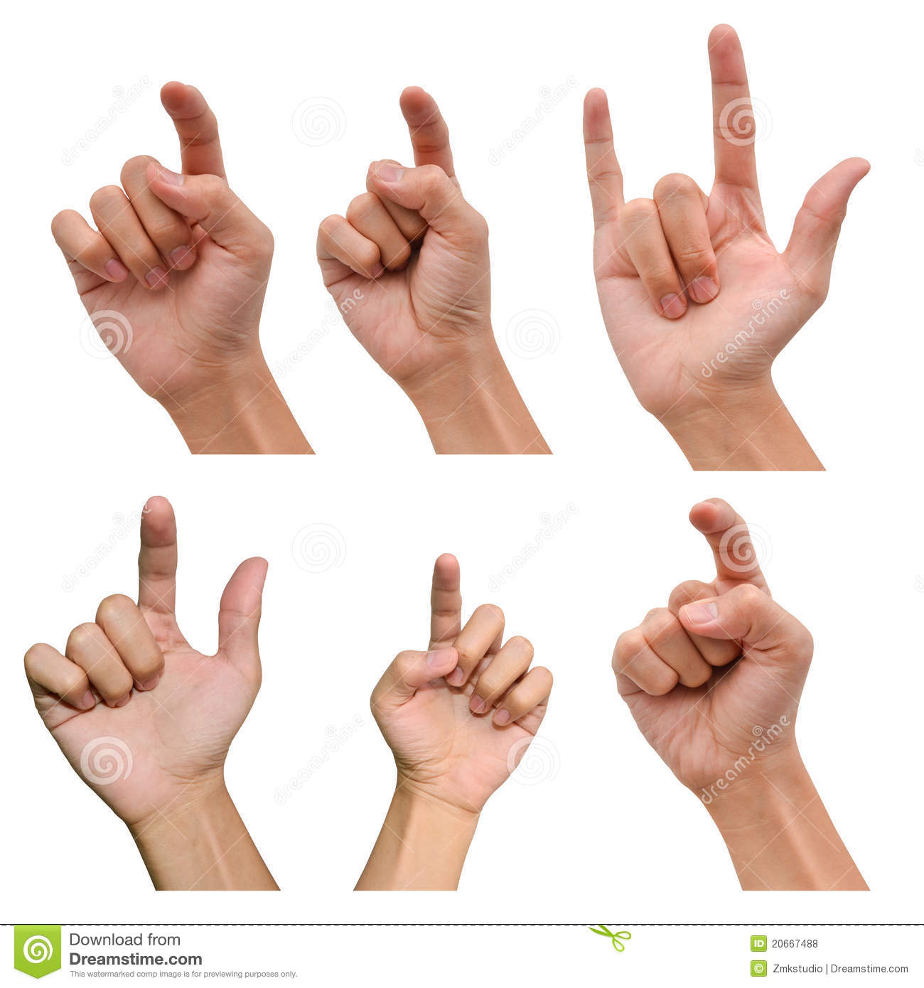 variety of hands in different poses stock photo image of concept