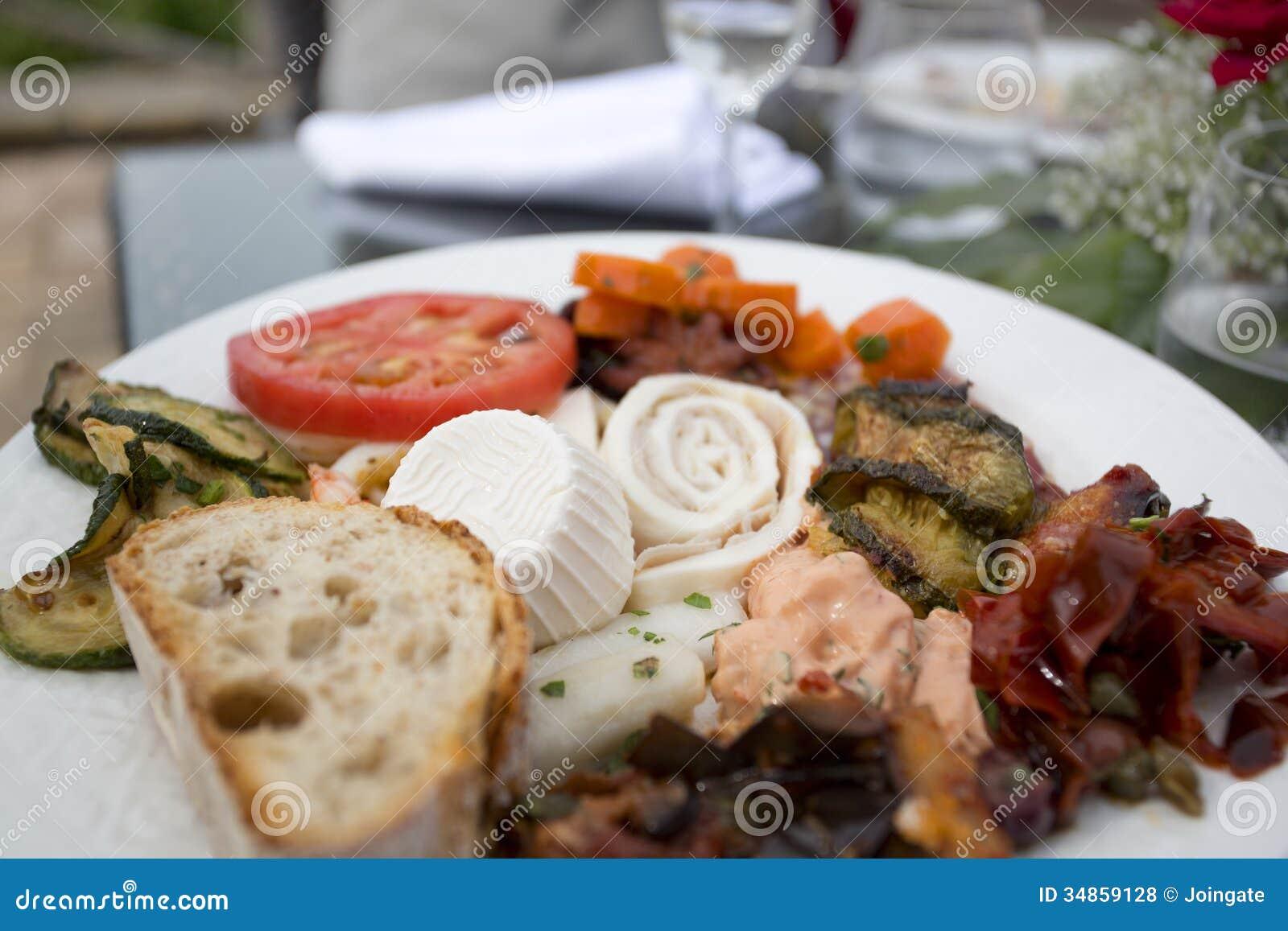 Variety of italian anti pasti
