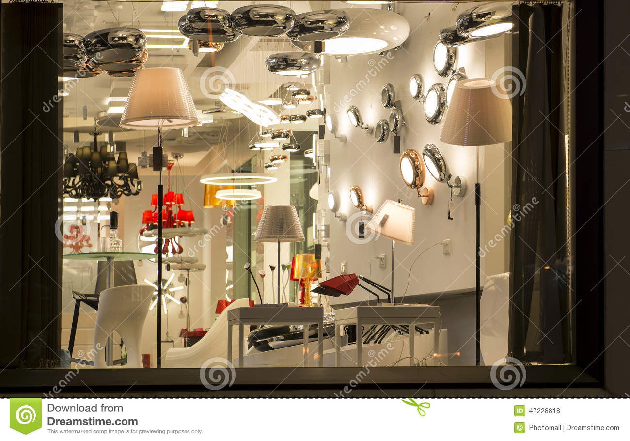 A Variety Of Lightings In A Lighting Shop Commercial