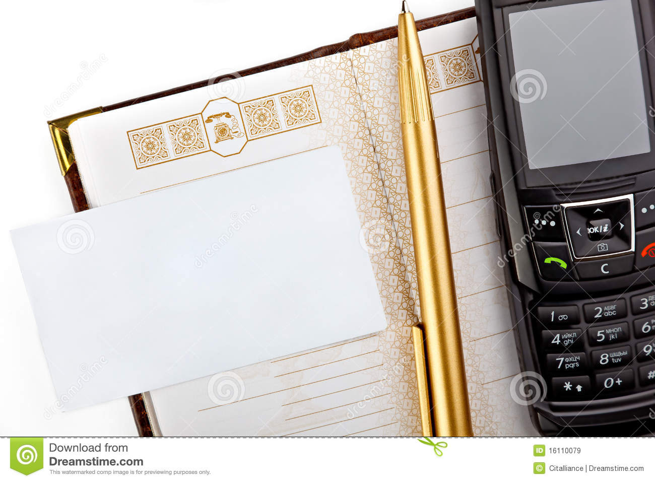 Variety Of Modern Office Supplies Royalty Free Stock