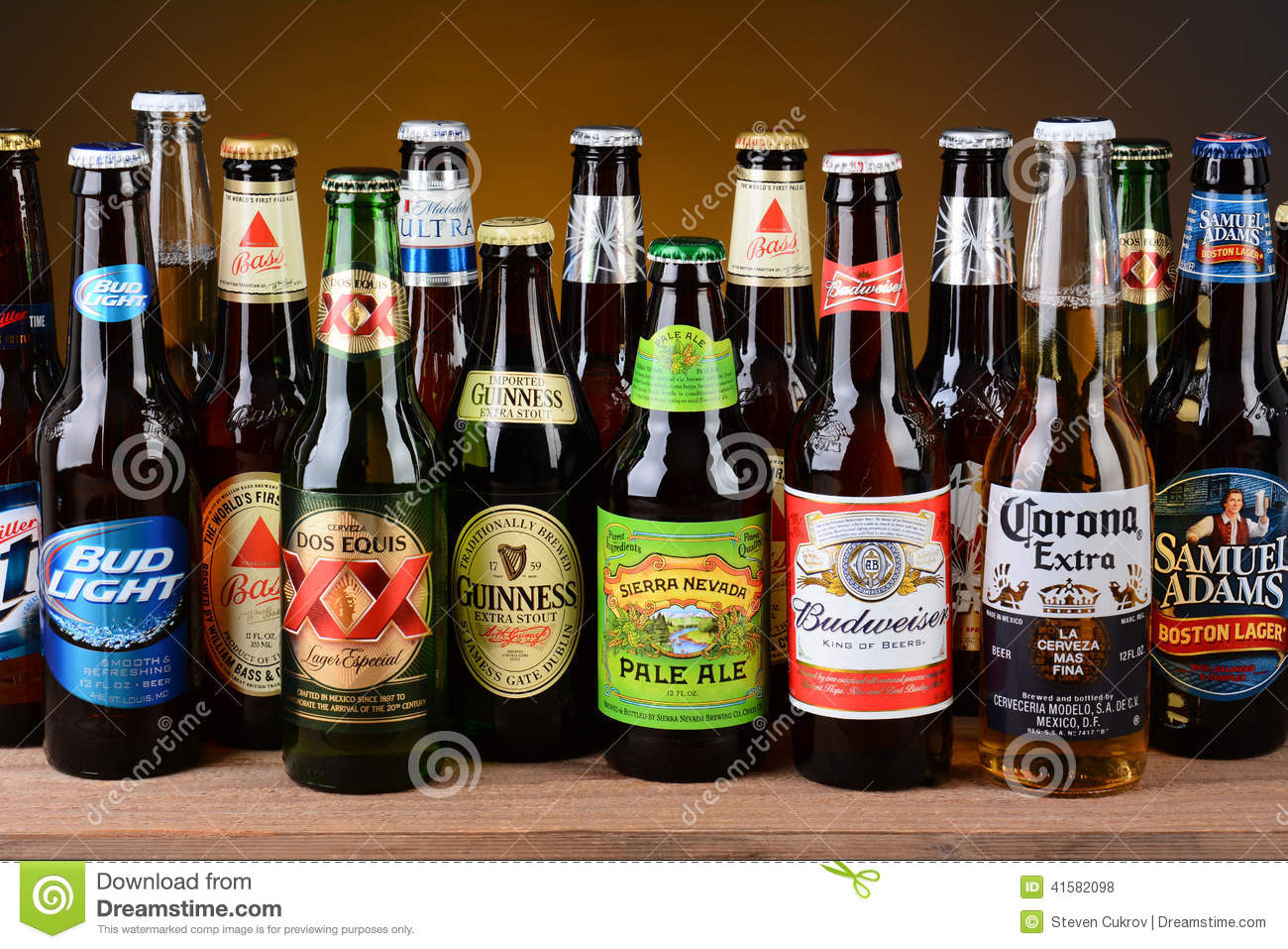 Download Variety Of Single Beer Bottles Editorial Stock Photo Image Of Domestic Imported