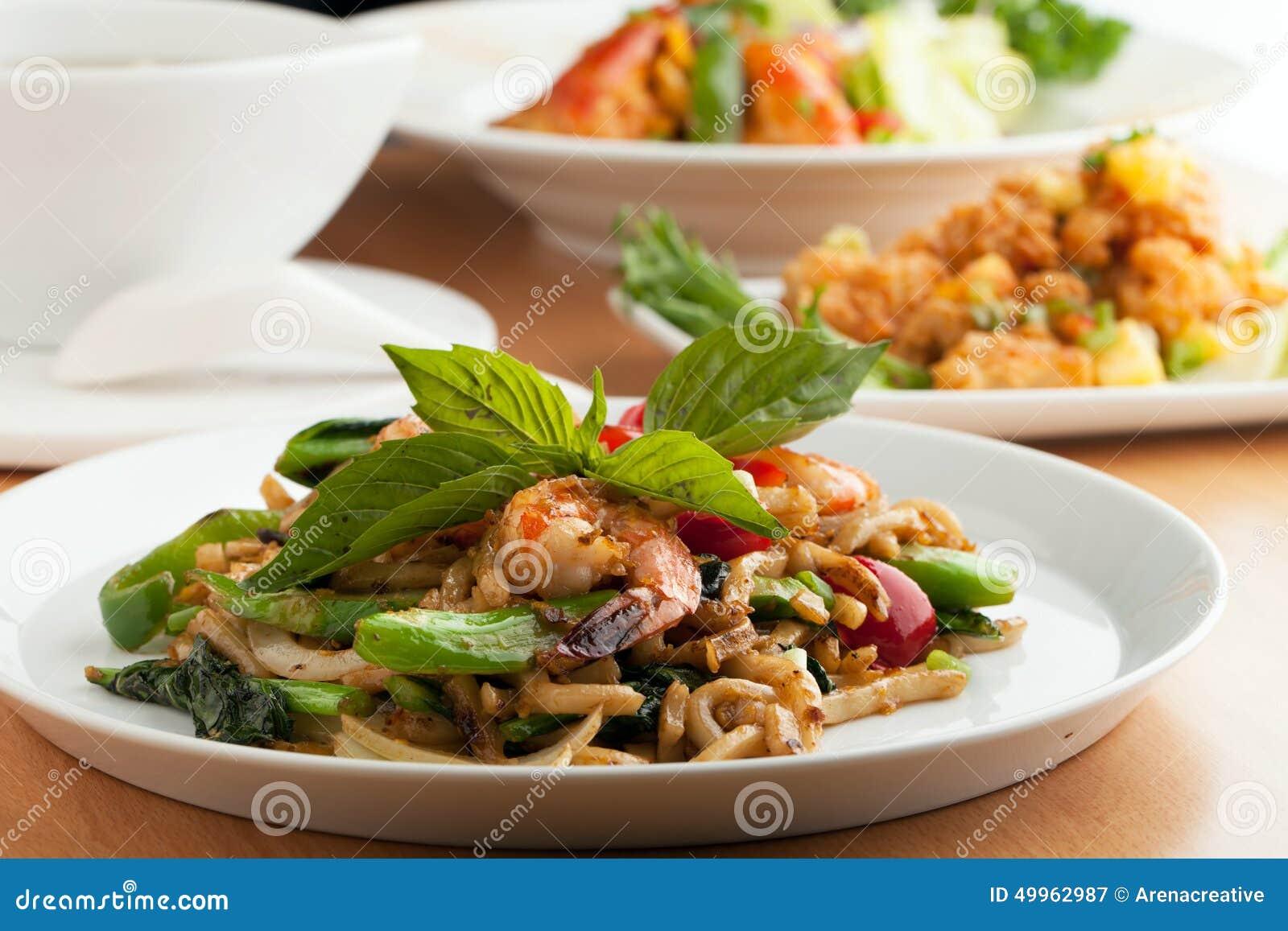Variety of thai food