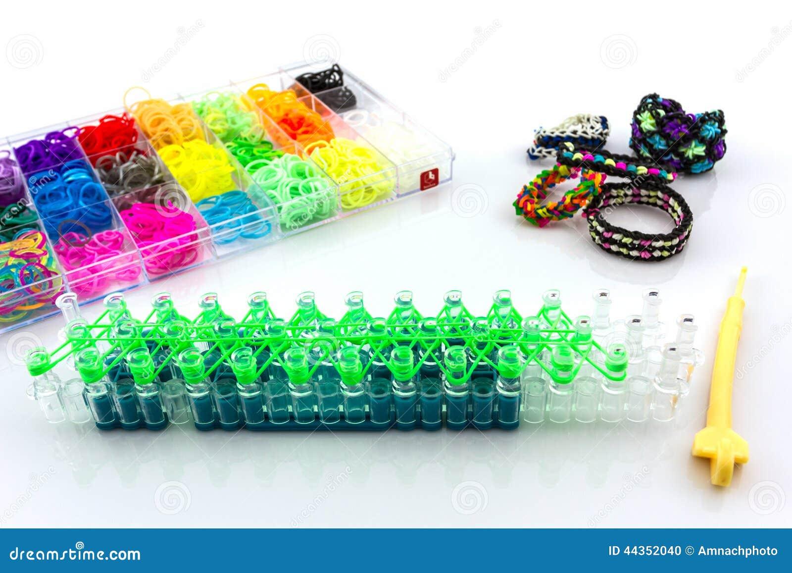 Variopinto delle bande elastiche del telaio dell arcobaleno