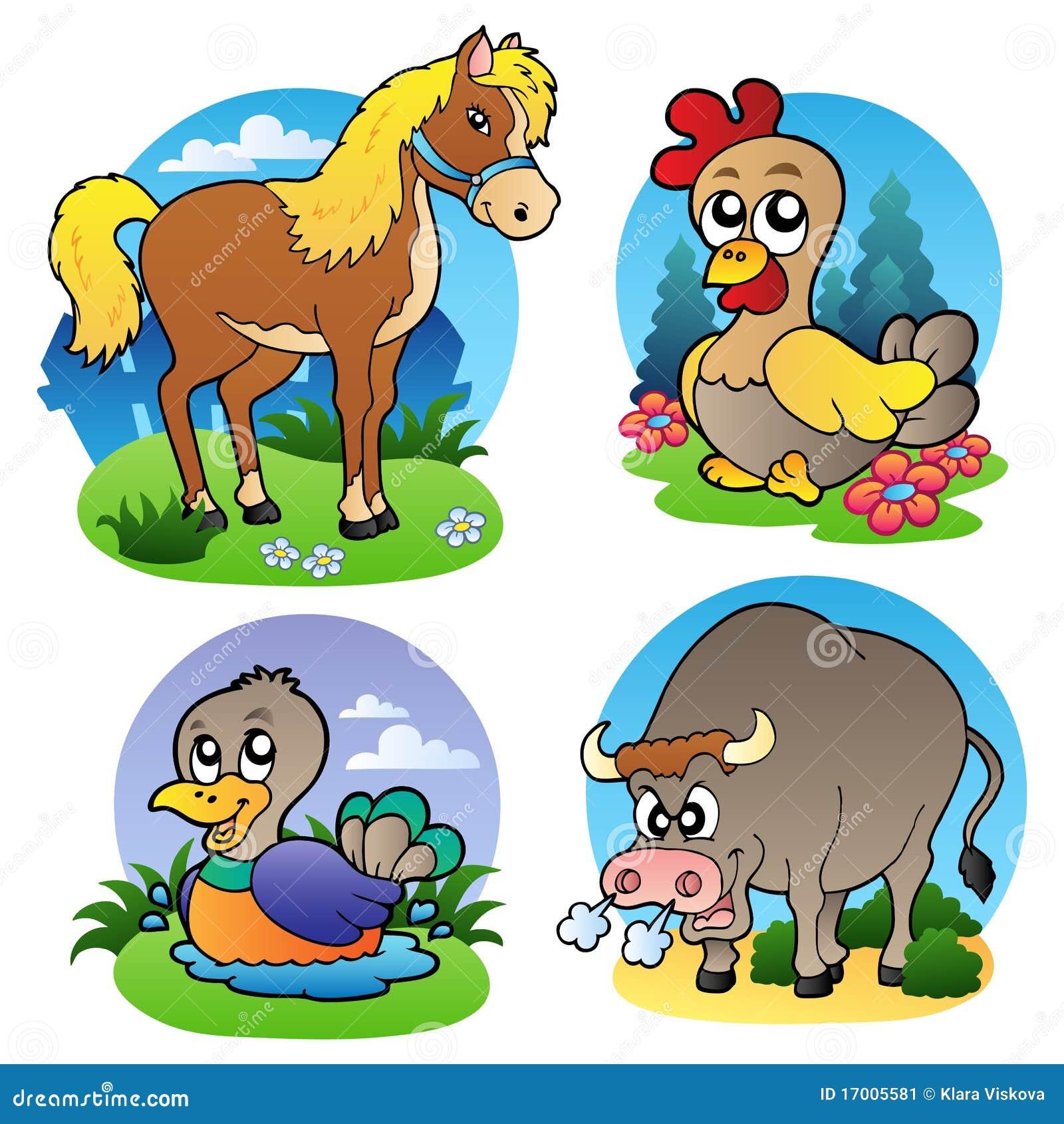 Varios animales del campo 2 ilustraci n del vector for Animales de plastico para jardin