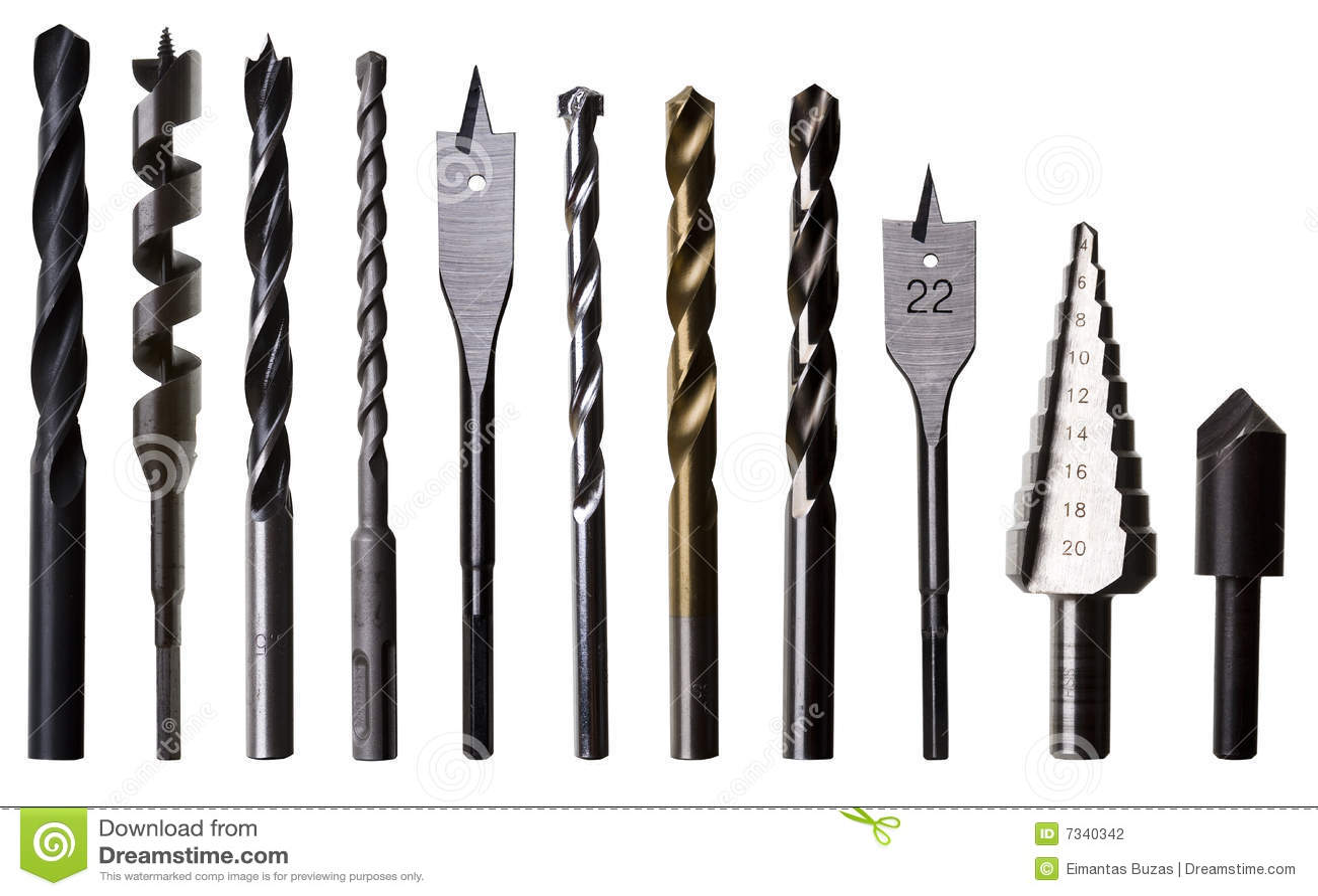 Varios d gitos binarios de taladro para el metal la - Taladro de la madera ...