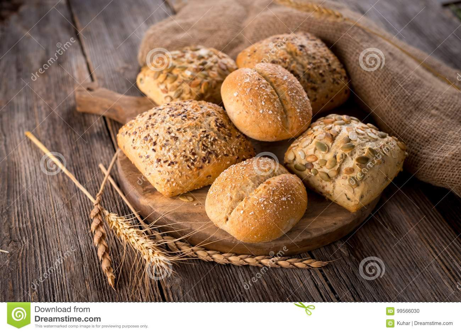Varios tipos de pan