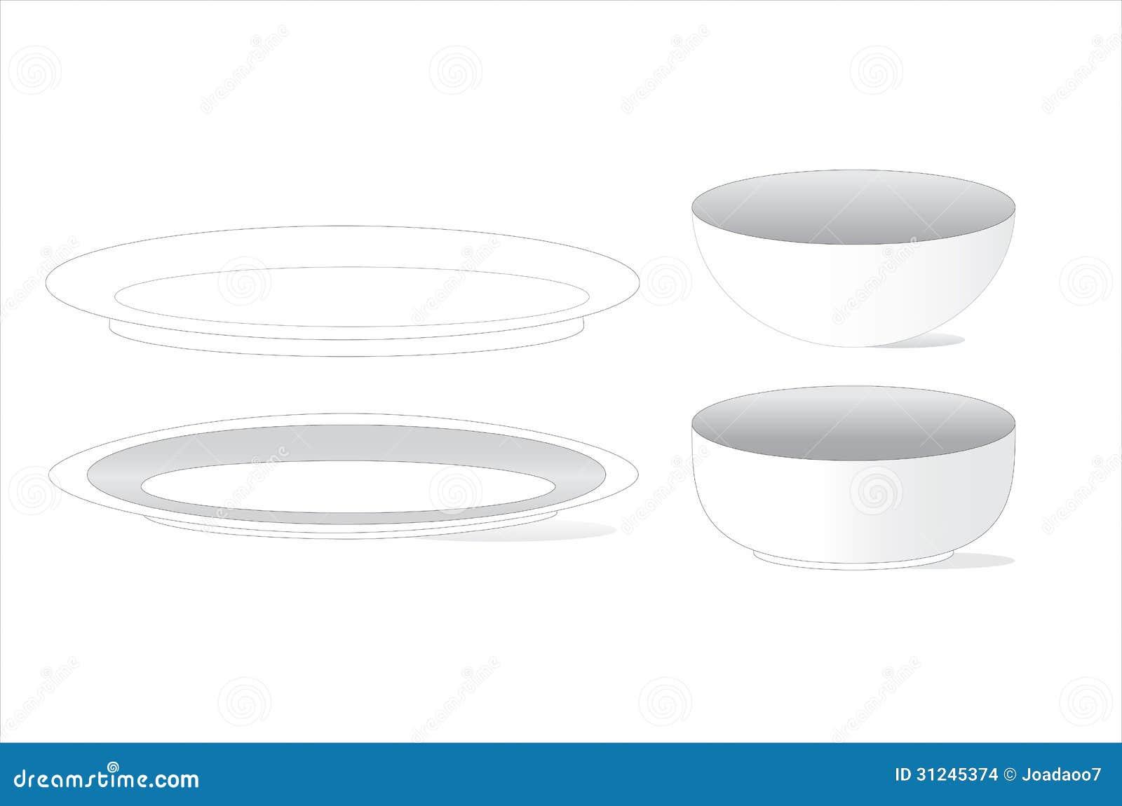 Varios tipos y sizse del plato imagenes de archivo for Tipos de platos