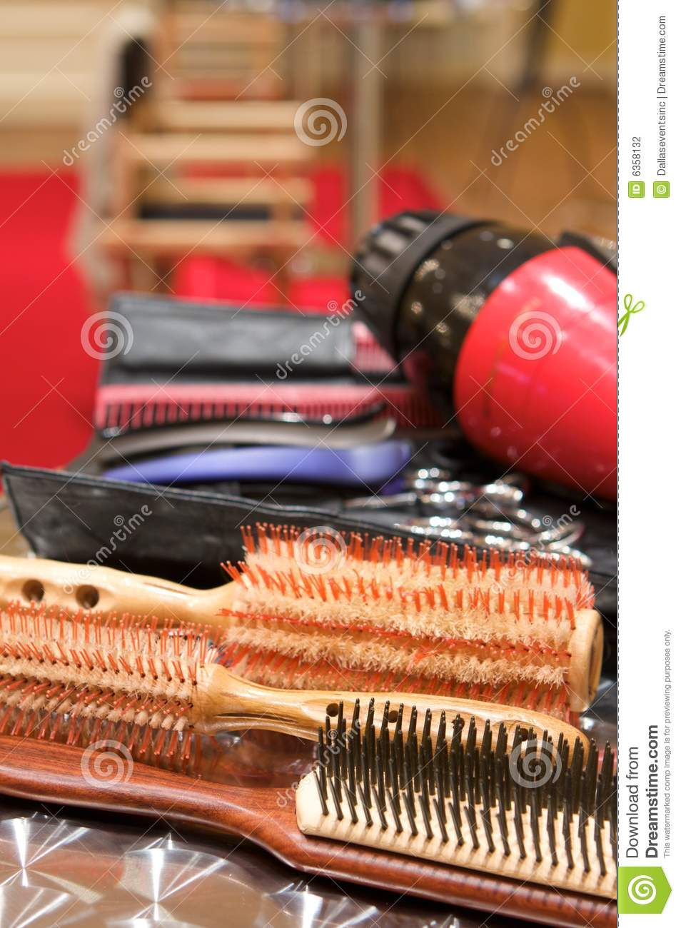 Various beauty supplies at a salon stock photography for A daz l salon beauty supply
