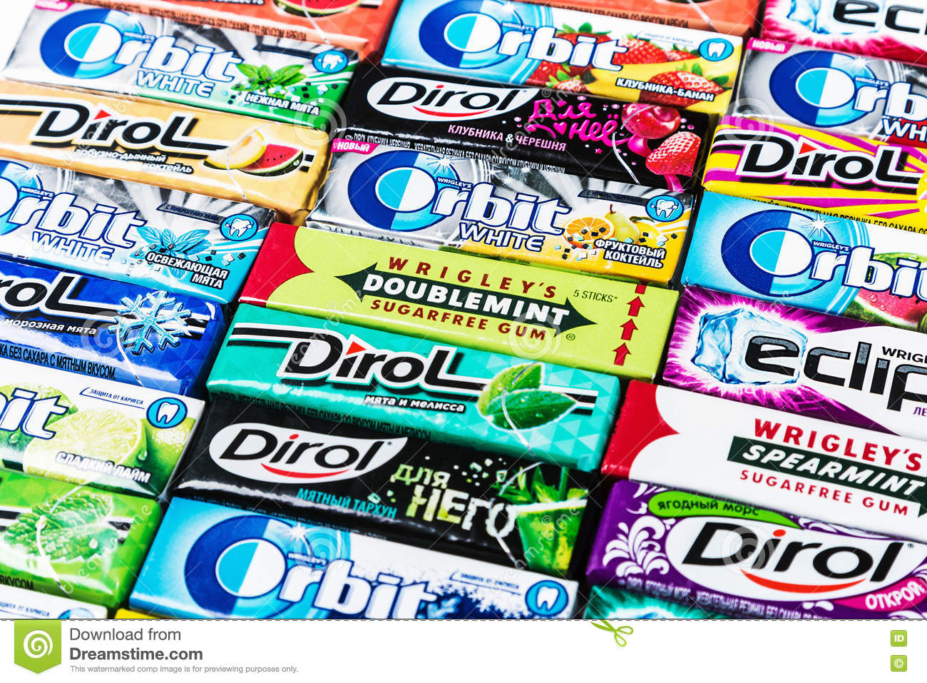 Various brand chewing gum editorial image. Image of dental ...