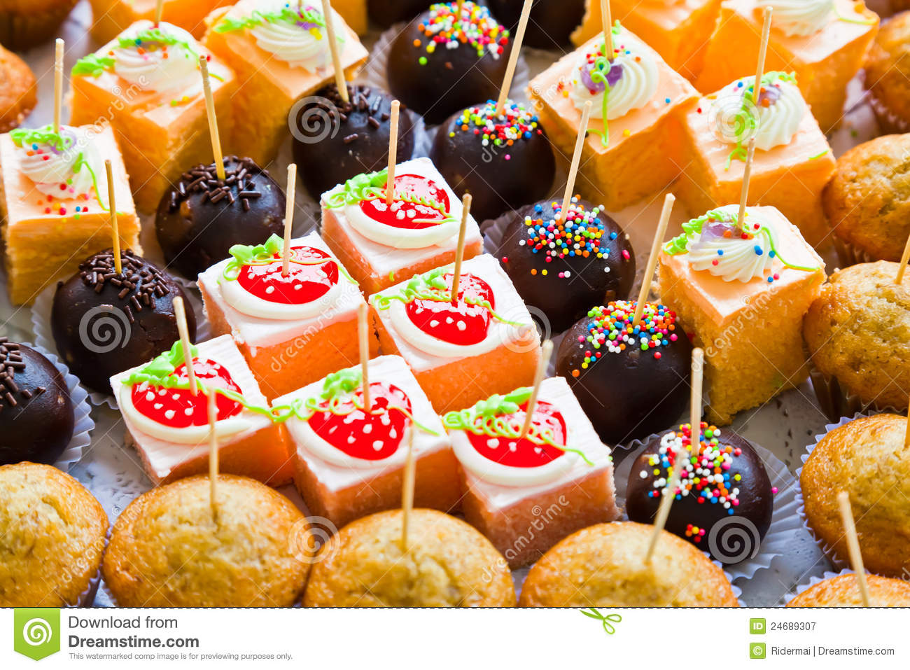 The Various Cakes Royalty Free Stock Photography Image