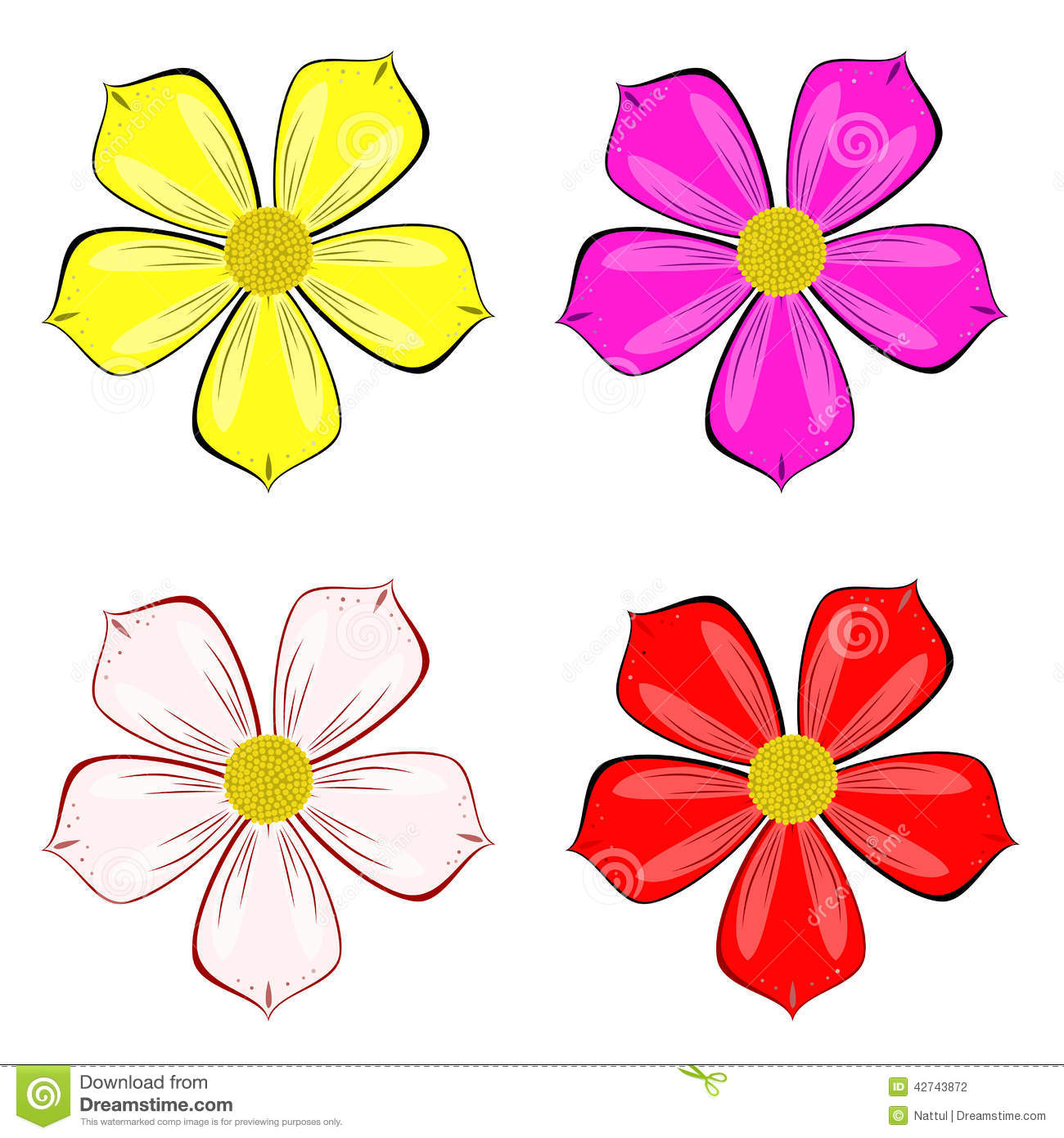 Various color of flower vector stock vector illustration of various color of flower vector voltagebd Image collections