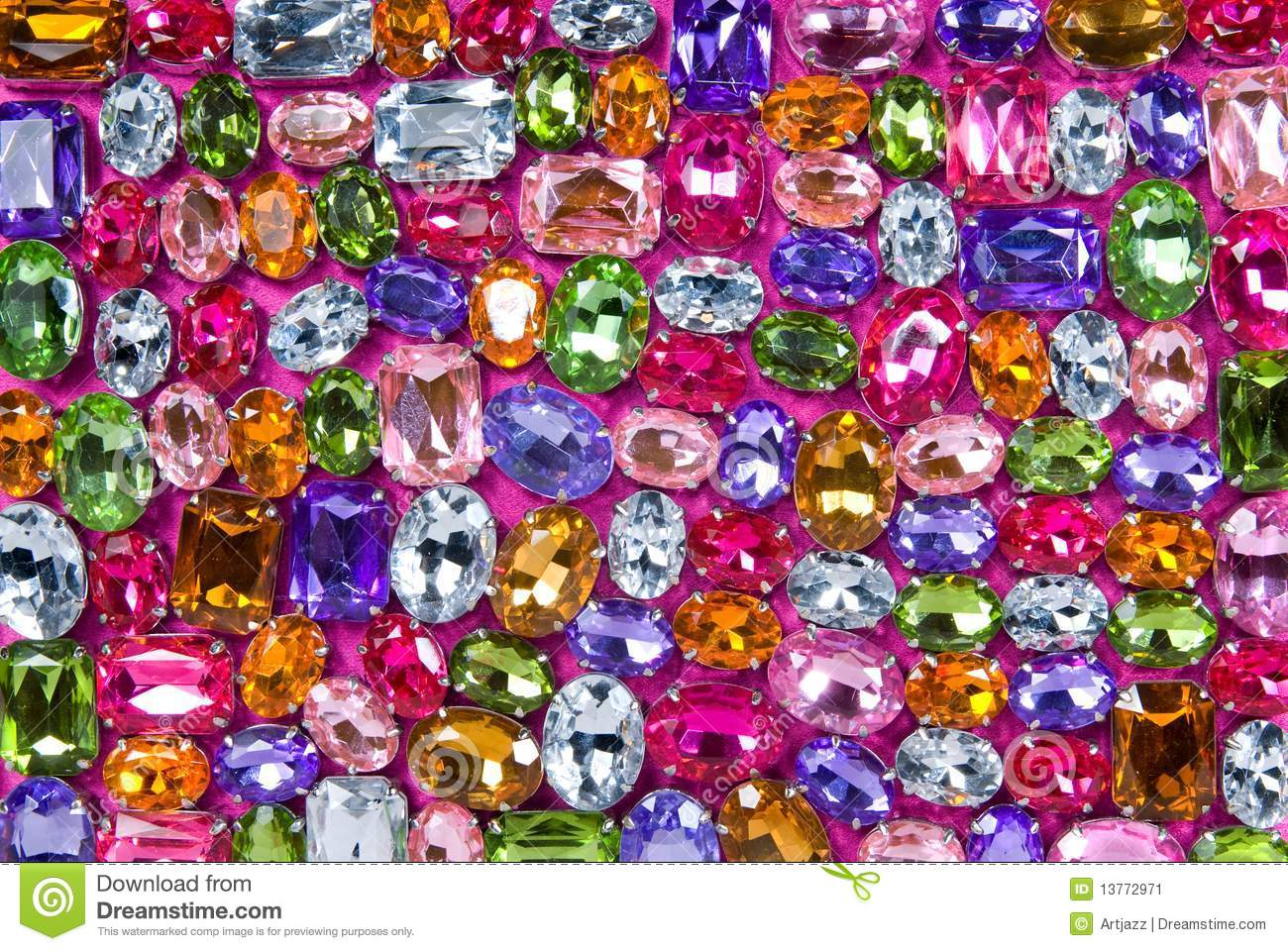The Chemistry Of Gemstone Colours: Various Color Shiny Gems Stock Image