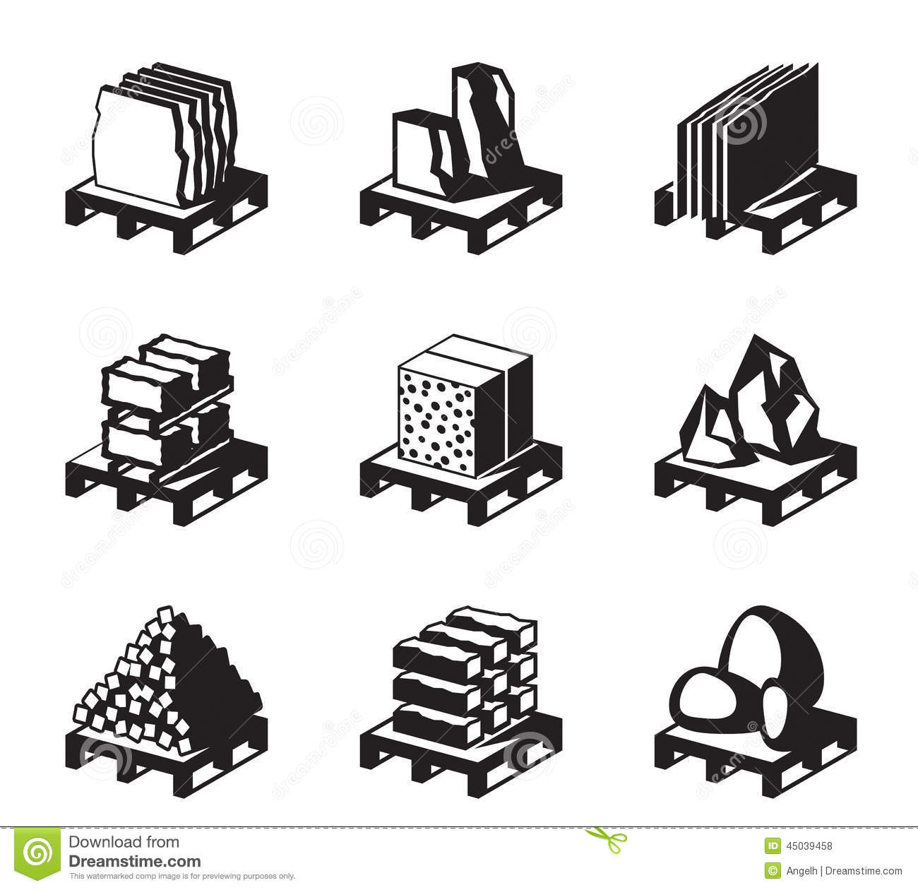 Various Construction And Building Materials Stock Vector
