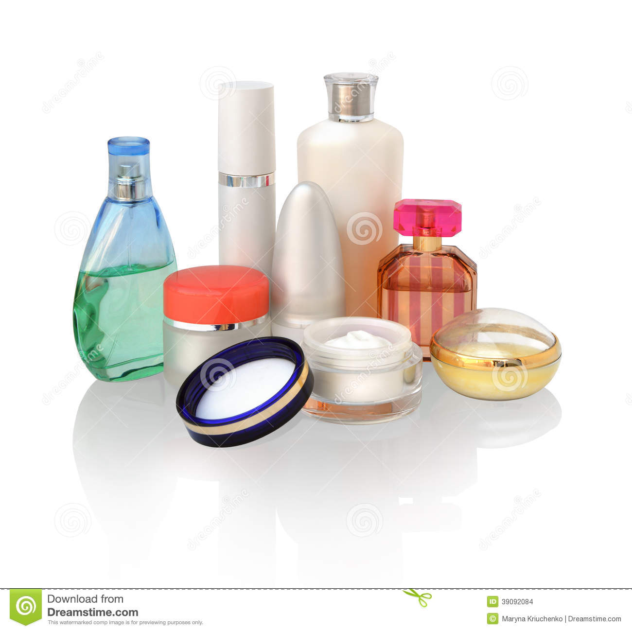 Magazine word background stock photography image 12291482 - Various Cosmetics For Skin Care Stock Images