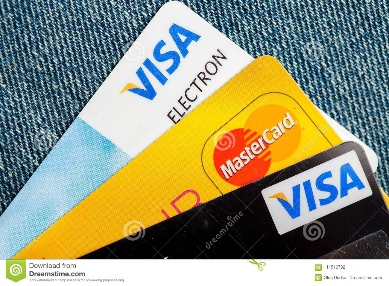 Various Credit Cards For Business Background Editorial Photography ...