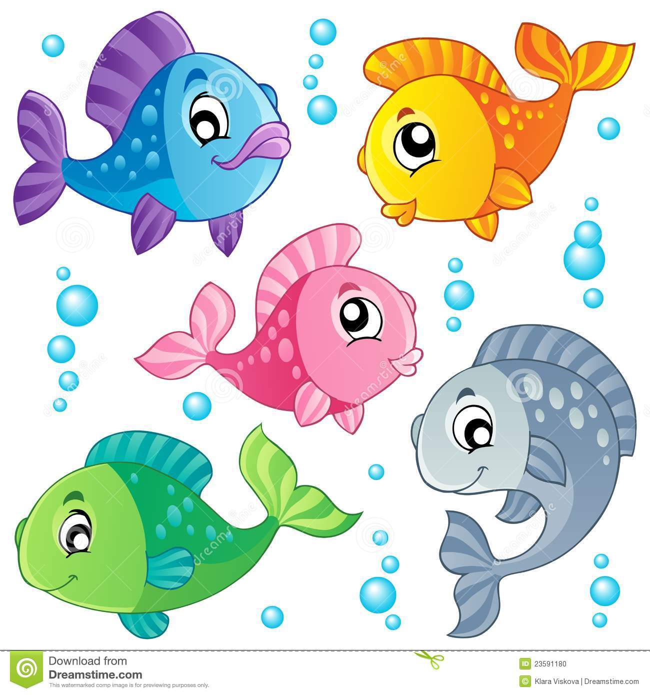 Various Cute Fishes Collection 3 Stock Photo - Image: 23591180