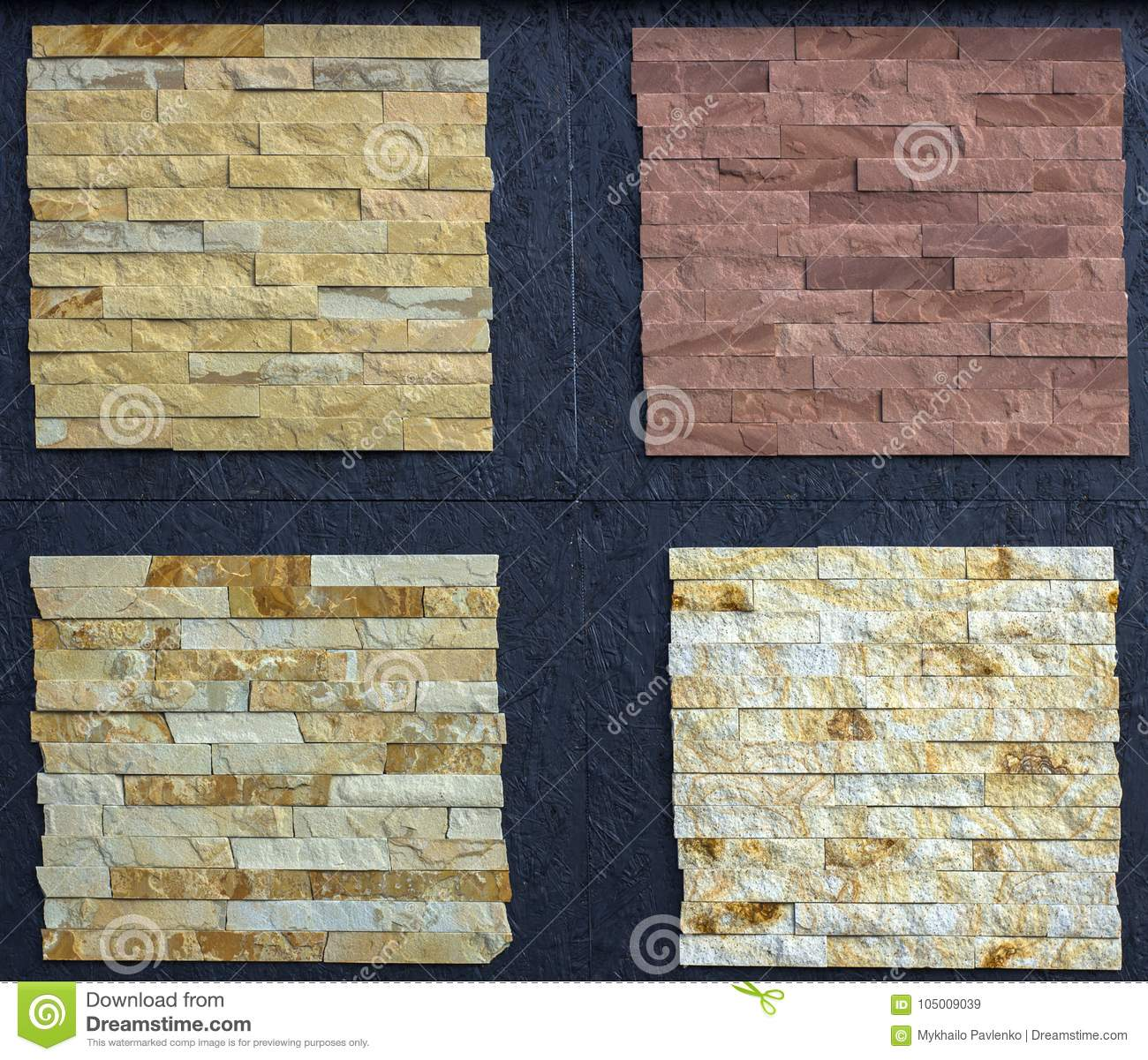 Various Decorative Tiles, And Natural Stone Samples Stock Image ...