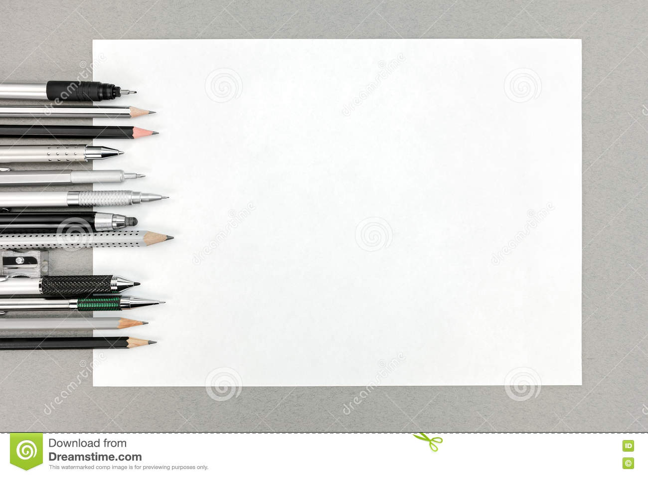 office drawing tools various drawing tools and blank sheet of paper on gray office de cafe lighting 8900 marrakech wall