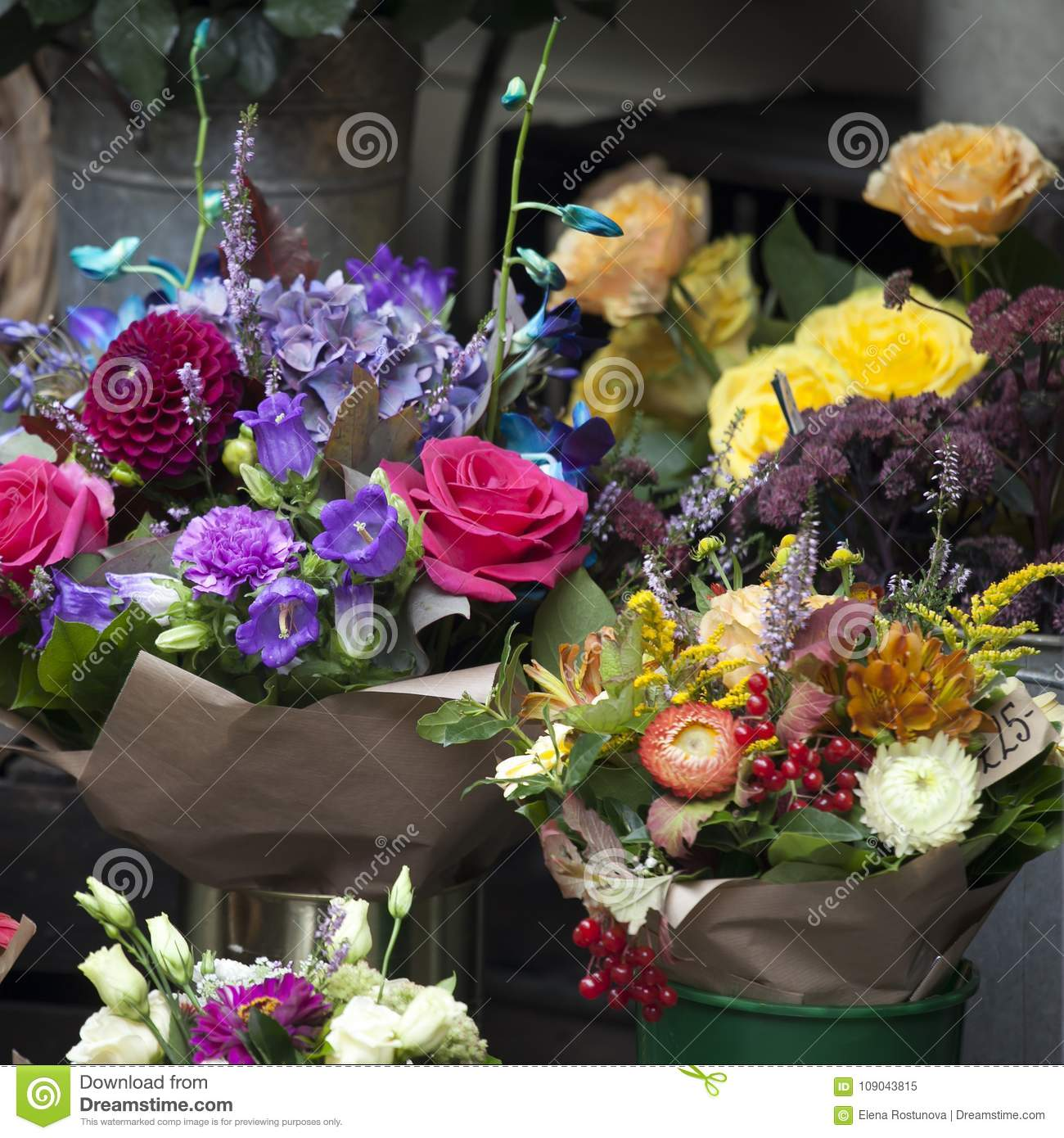 The various flowers for bouquets for sale stock image image of download the various flowers for bouquets for sale stock image image of dahlia flower izmirmasajfo