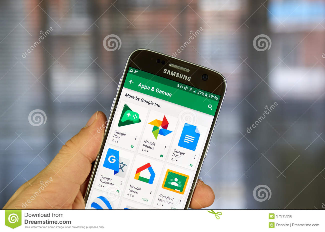 Various Google Application Icons On Google Play  Editorial